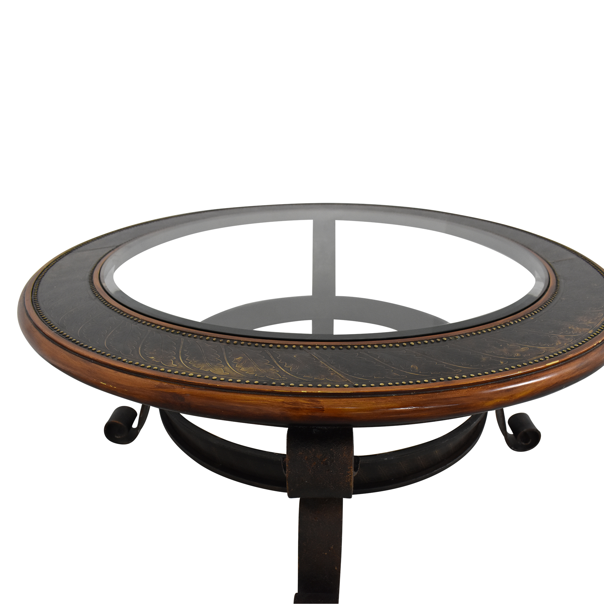 Maitland Smith Round Coffee Table / Tables