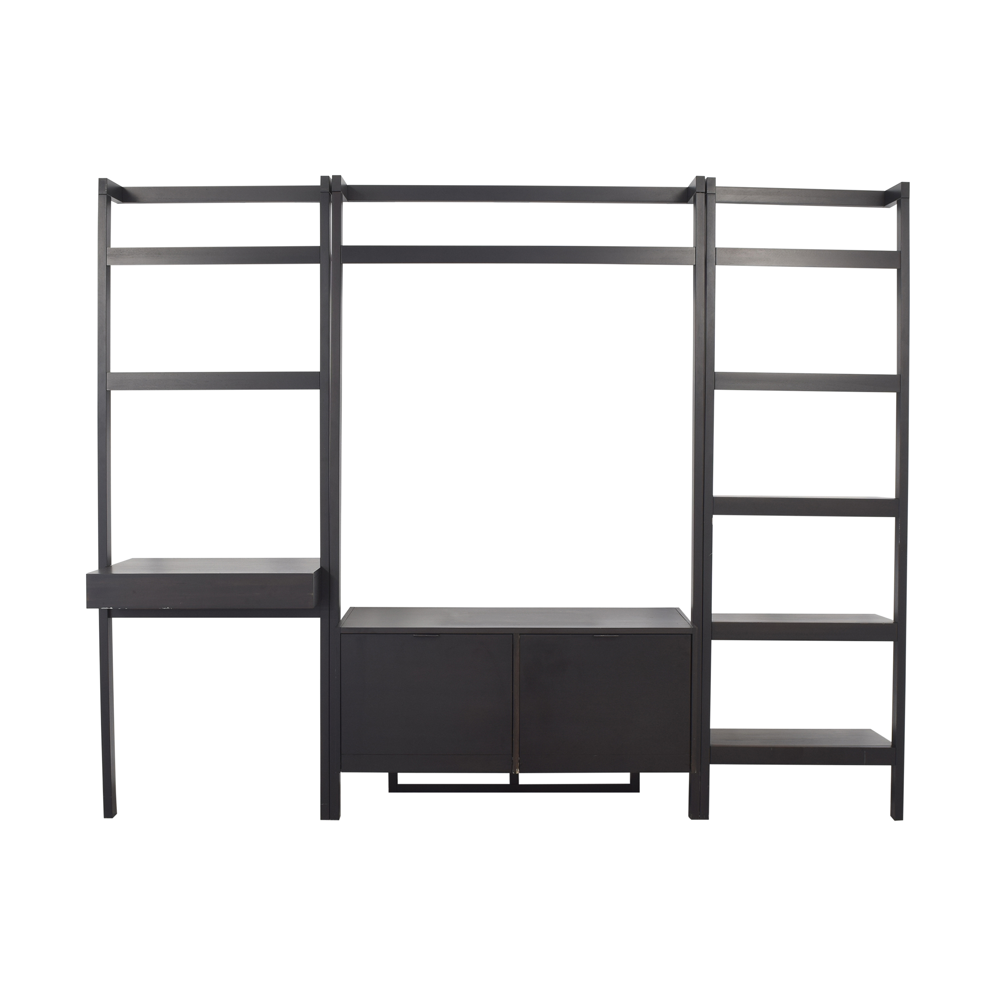 Crate & Barrel Crate & Barrel Sawyer Leaning Media Stand with Bookcases used