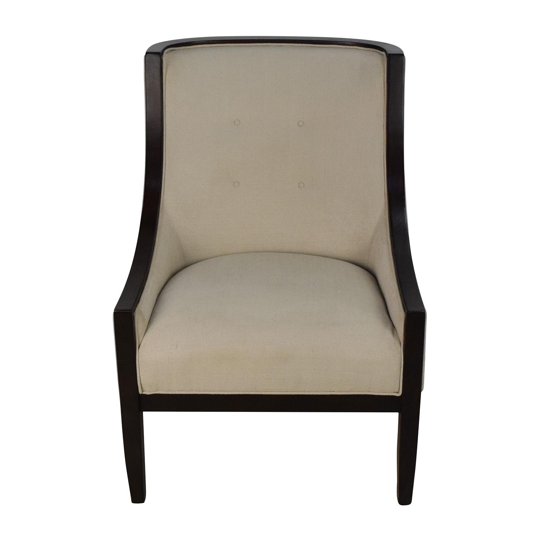 Bloomingdales Bloomingdales Tufted Cream High Back Chair on sale