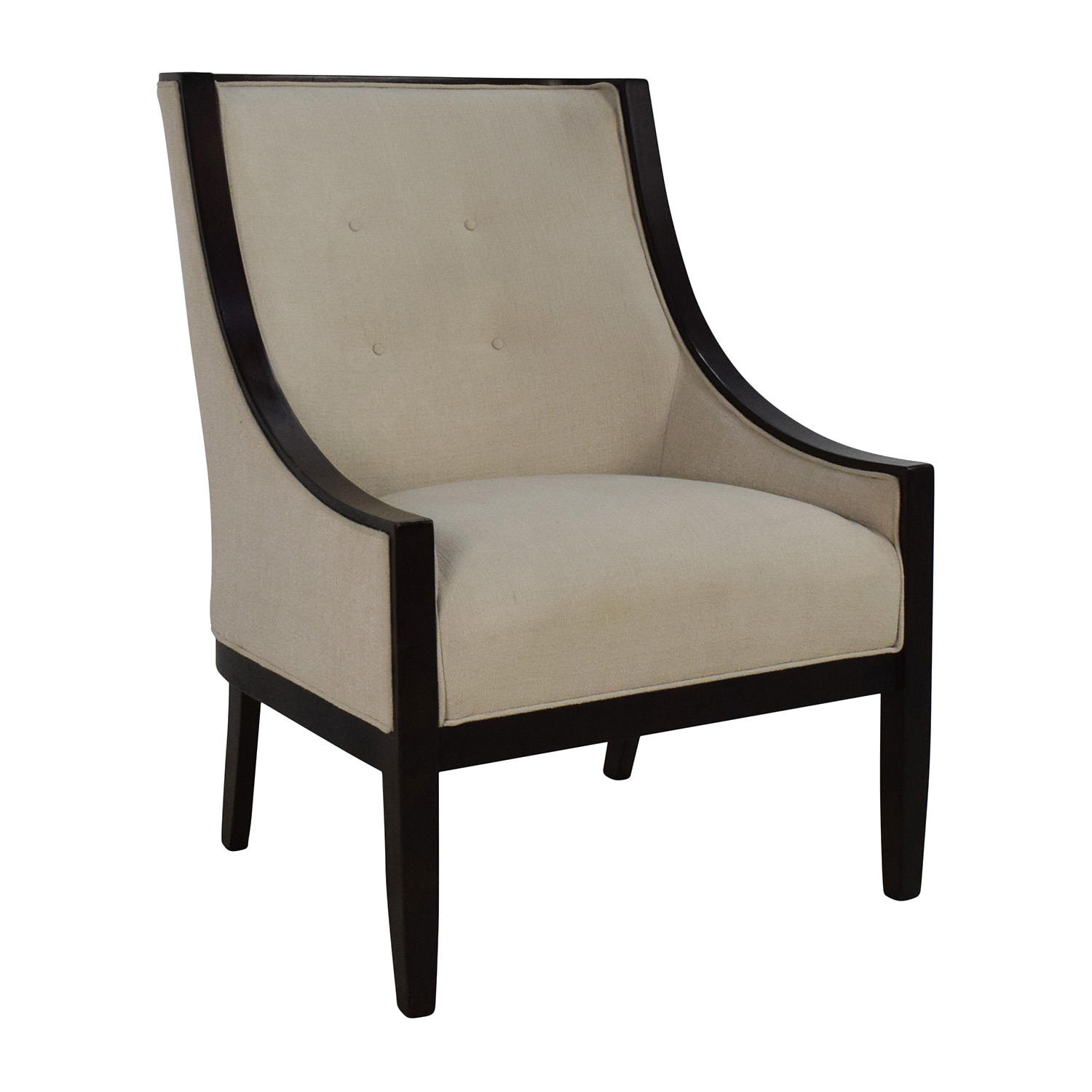 OFF Bloomingdales Bloomingdale s Tufted Cream High Back Chair