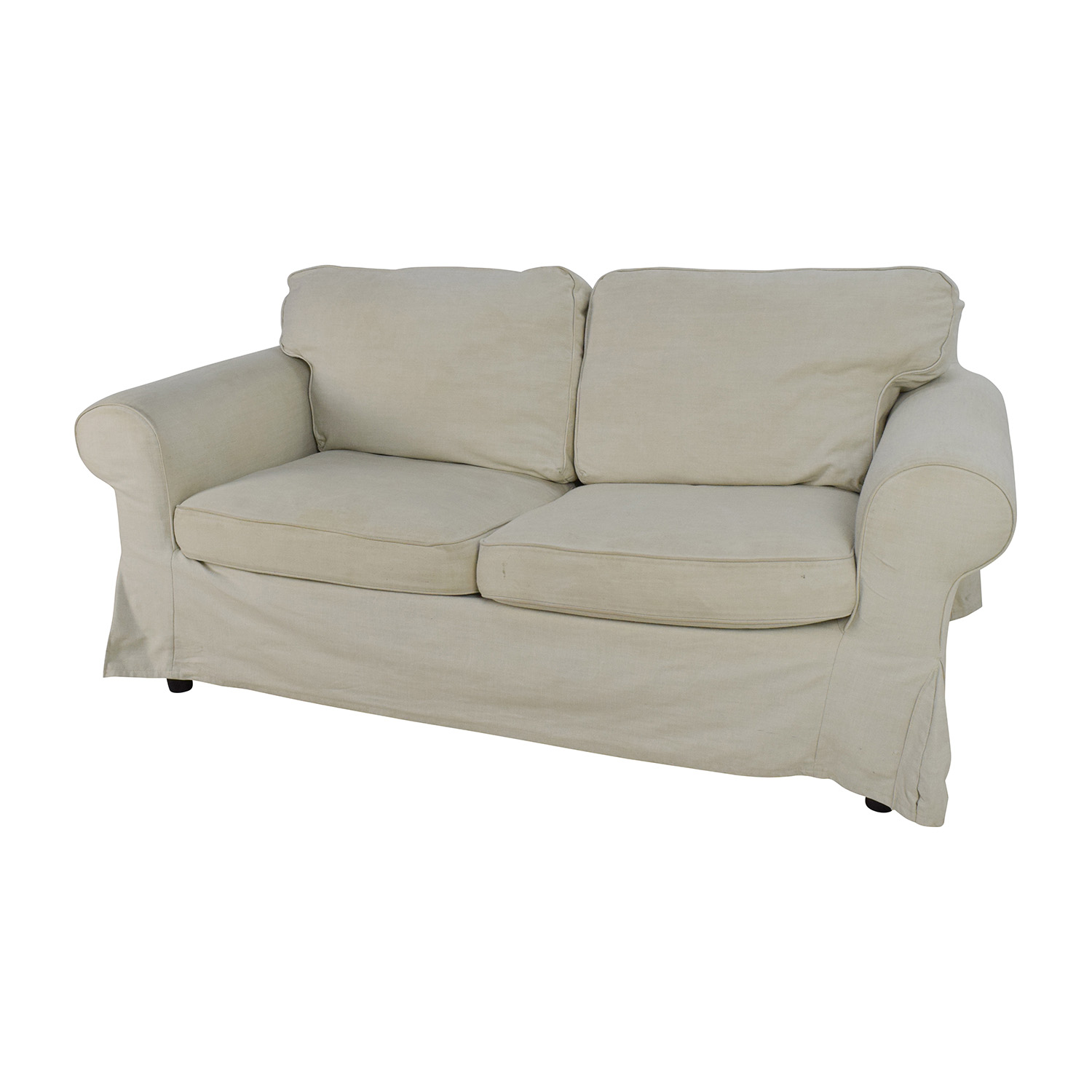 74 off ikea ikea ektorp slipcovered loveseat sofas for Classic loveseat