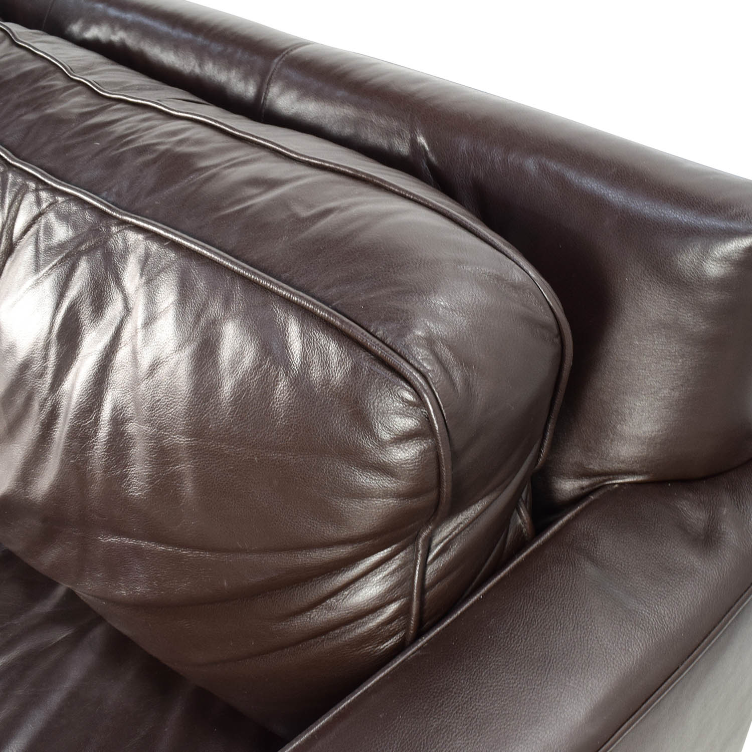 50% OFF West Elm West Elm Henry Leather Sofa Sofas