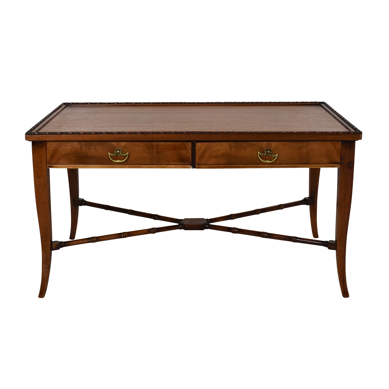 90 off vintage brass and glass coffee table tables for Grande table