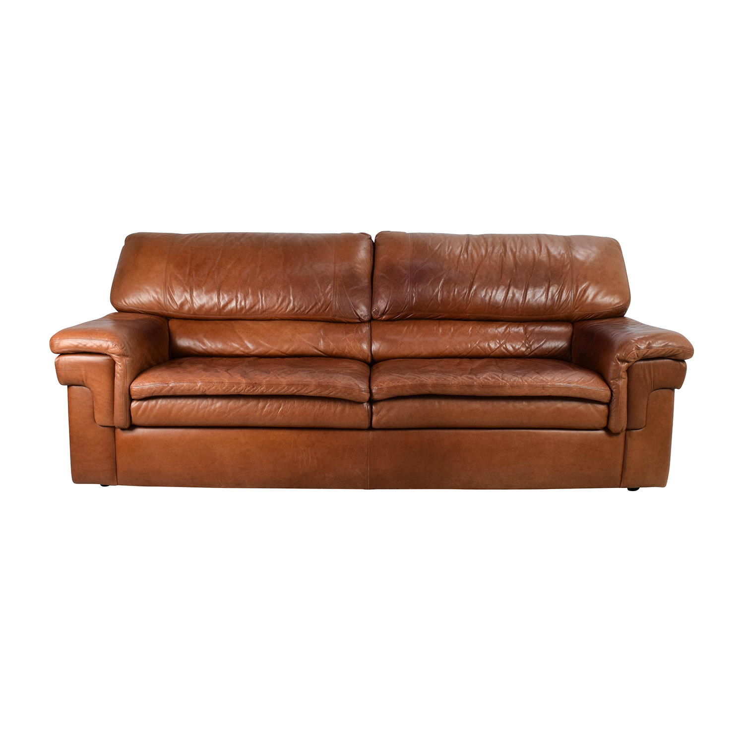 Classic Cherry Brown Leather Sofa / Sofas
