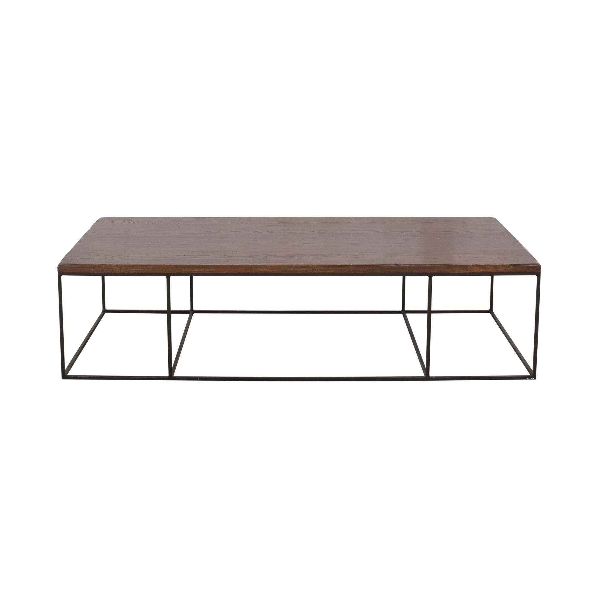 Geometric Box Frame Coffee Table