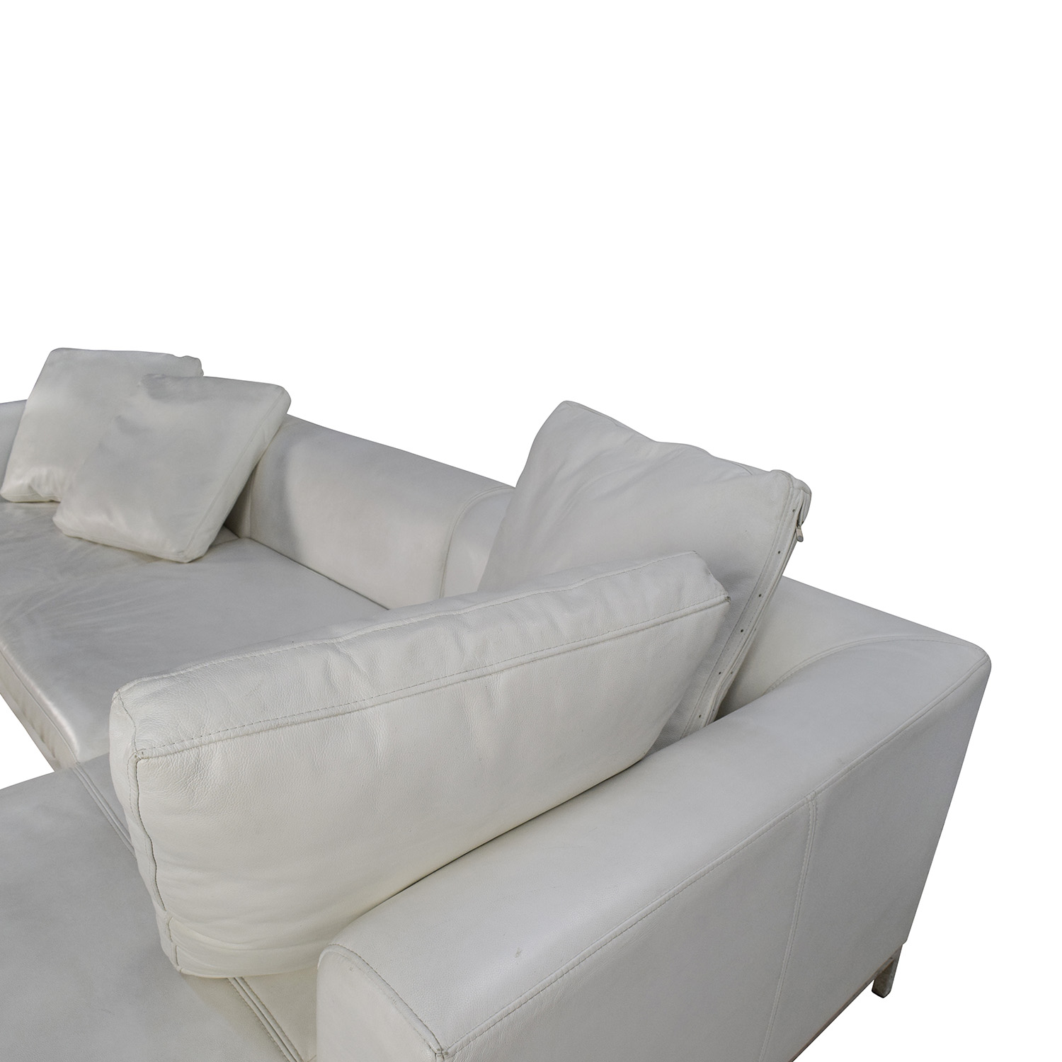 White Leather Sectional Sofa: White Leather Sectional Couch / Sofas