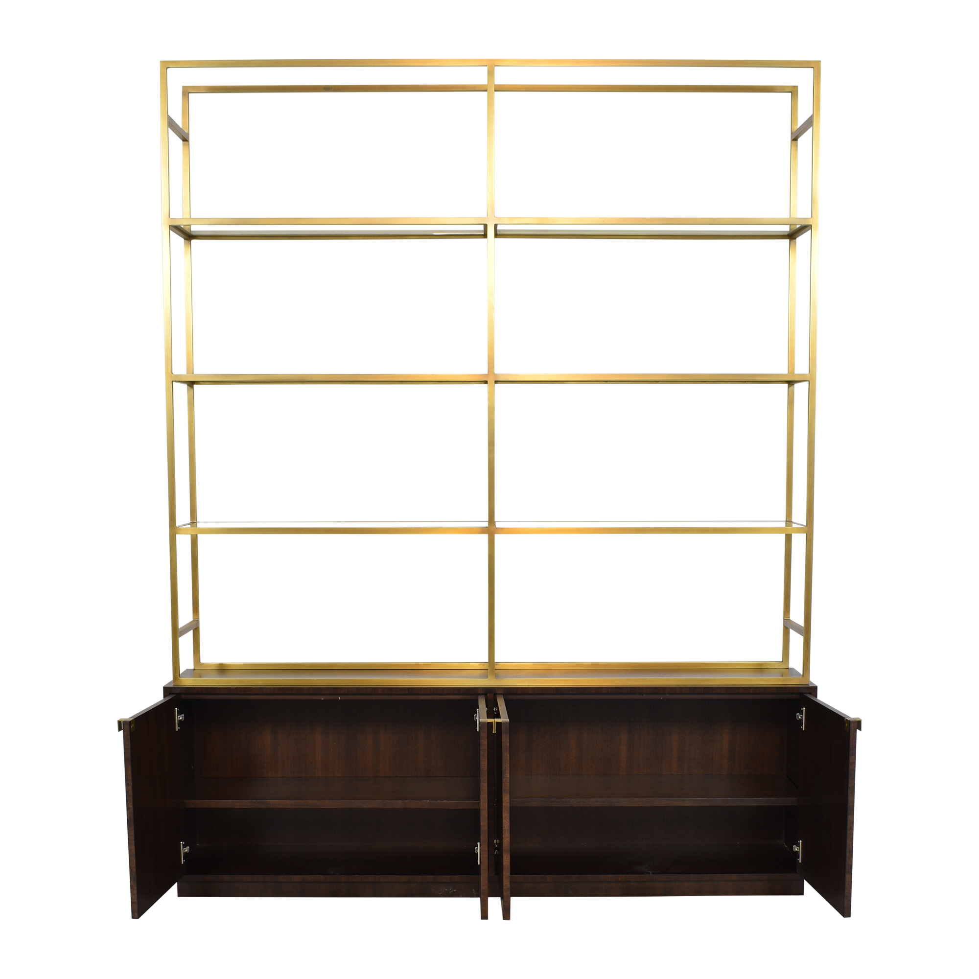 Restoration Hardware Restoration Hardware Sideboard with Etagere Style Bookcase pa
