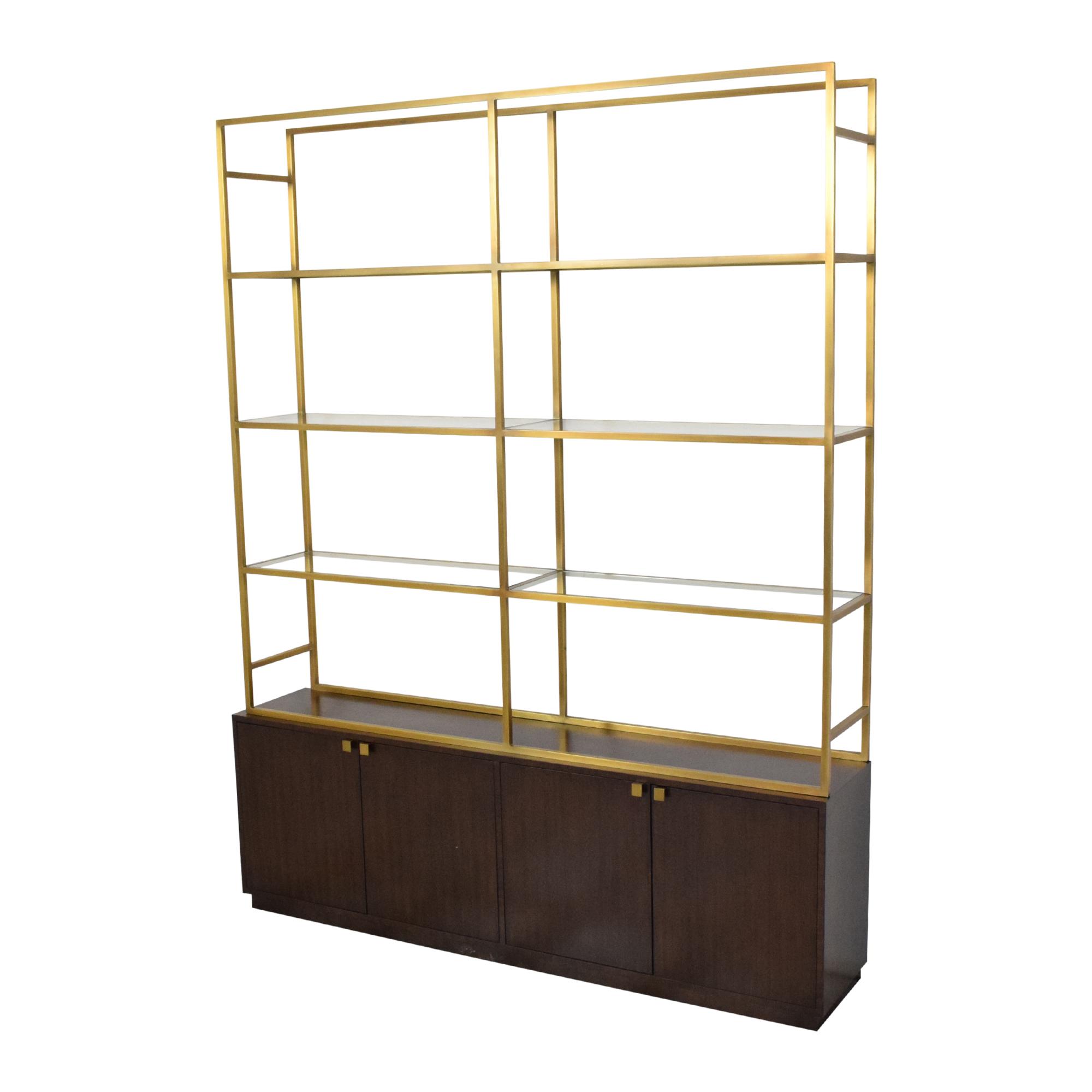 shop Restoration Hardware Sideboard with Etagere Style Bookcase Restoration Hardware Bookcases & Shelving