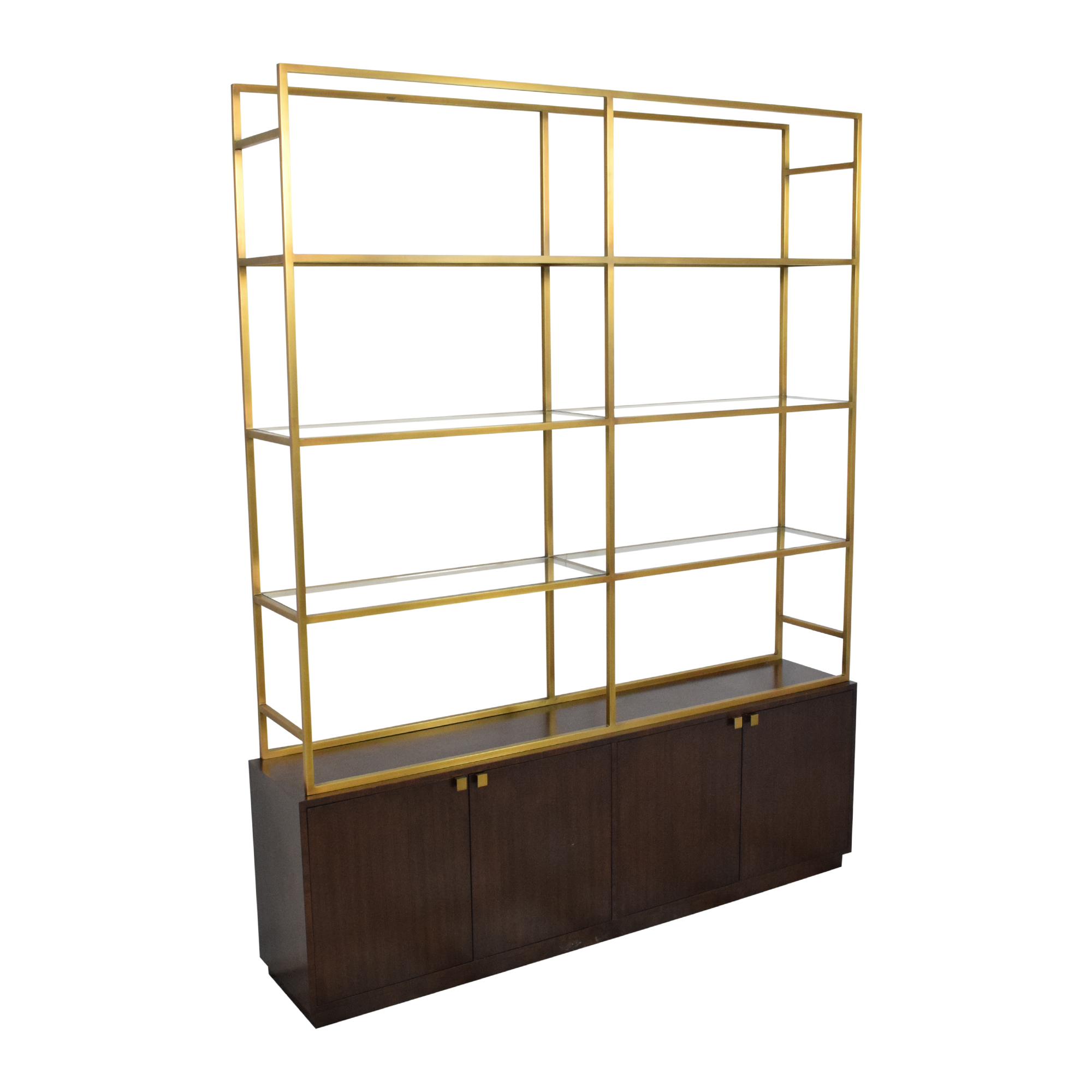 Restoration Hardware Restoration Hardware Sideboard with Etagere Style Bookcase for sale