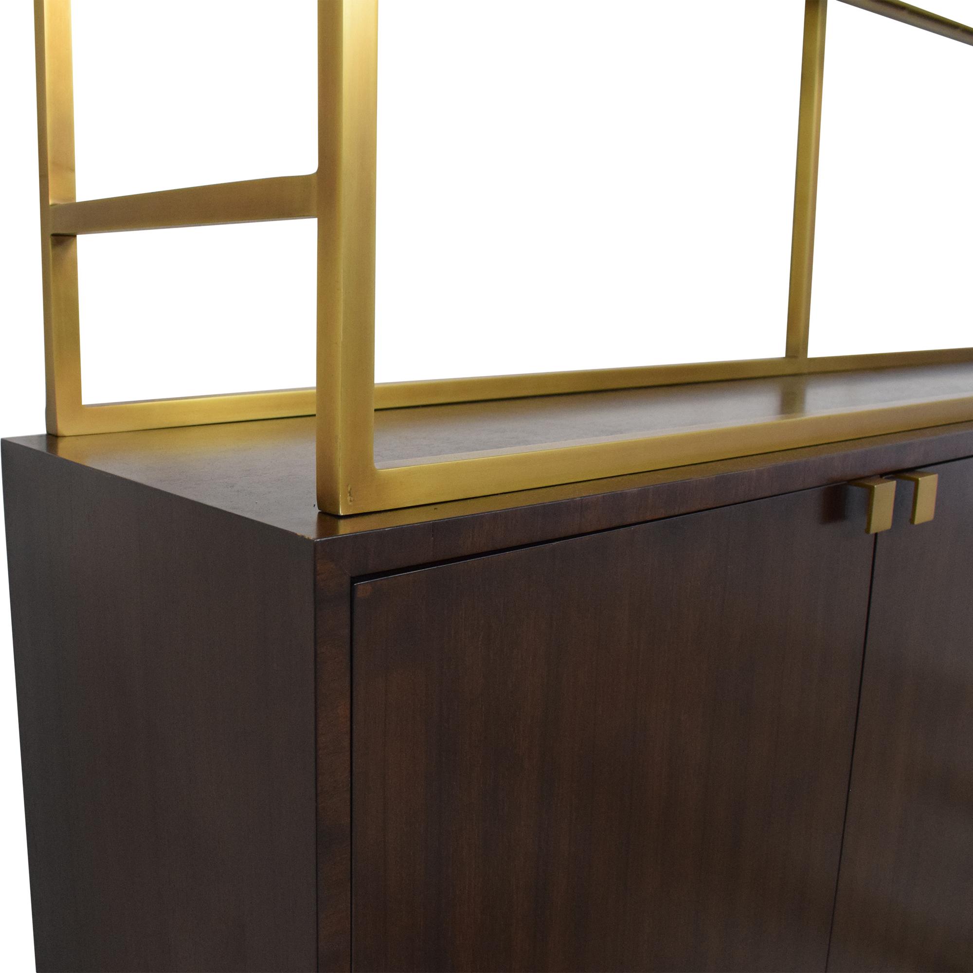 Restoration Hardware Sideboard with Etagere Style Bookcase Restoration Hardware