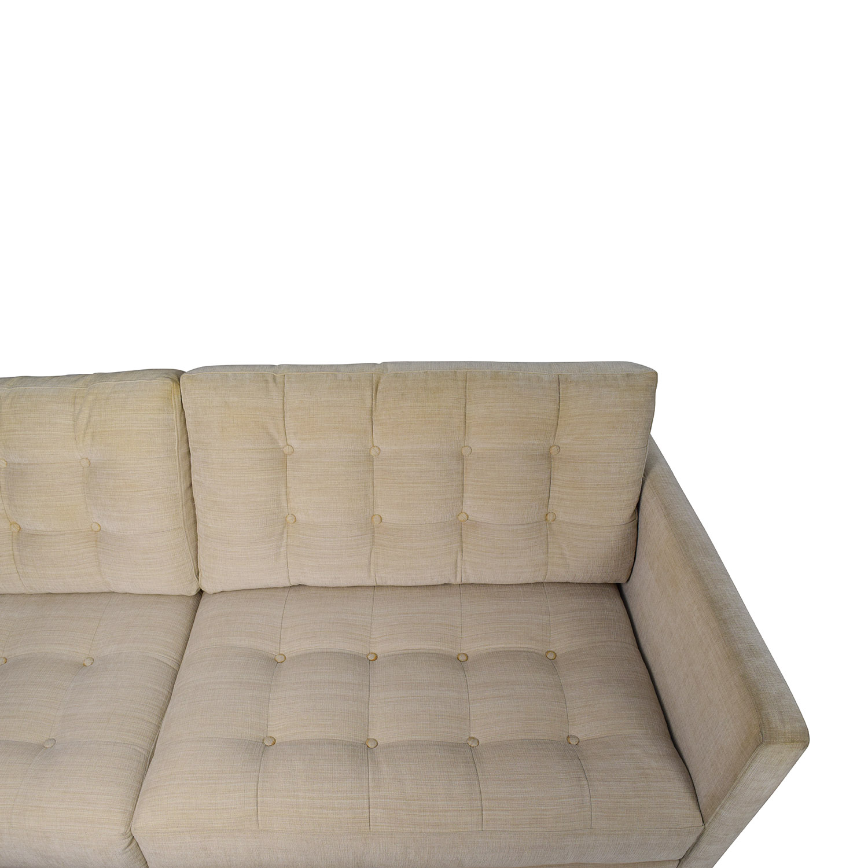 ... Macys Macys Beige Mid Century Style Couch