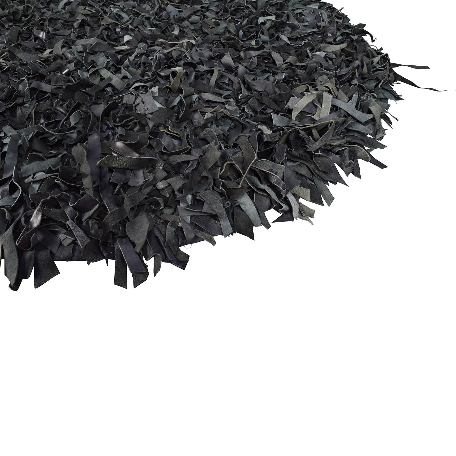 Rugs USA Black Leather Round Area Rug / Rugs