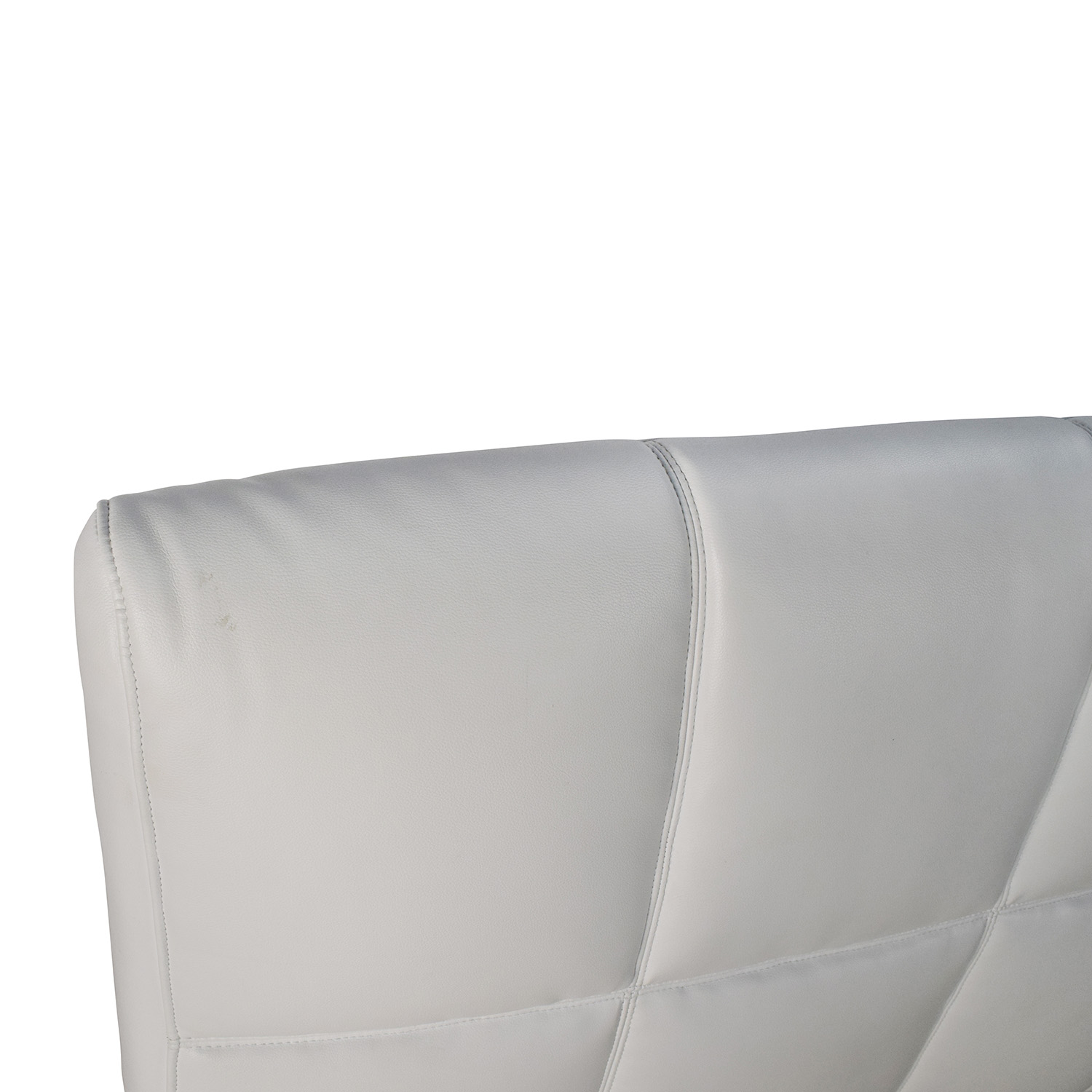White Leather Queen Bed Frame and Headboard coupon