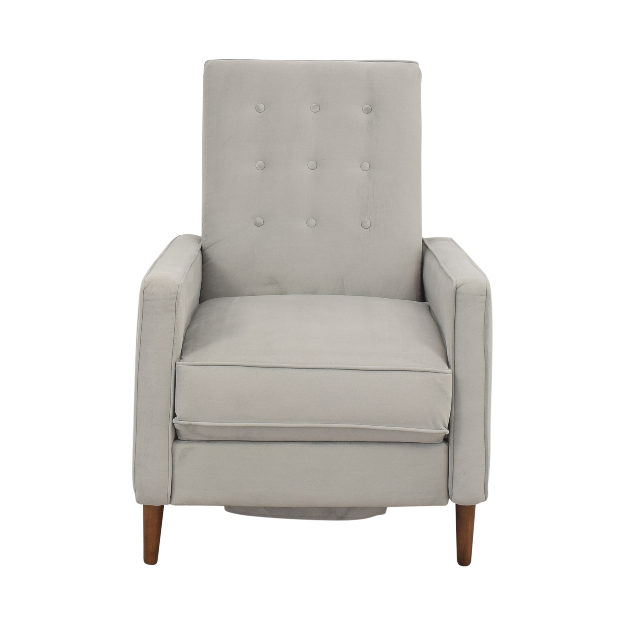 shop West Elm Rhys Mid Century Recliner West Elm Recliners