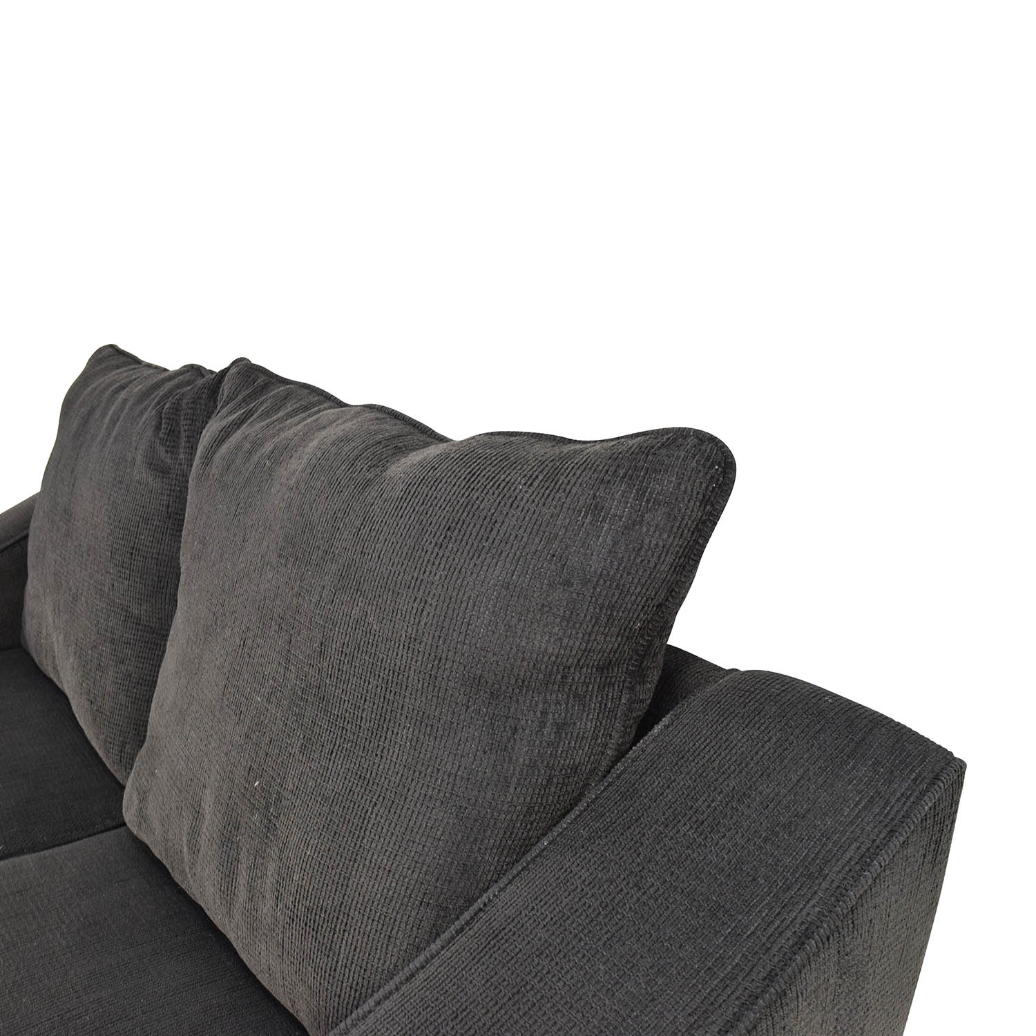 67 Off Black Cloth Loveseat And Matching Oversized
