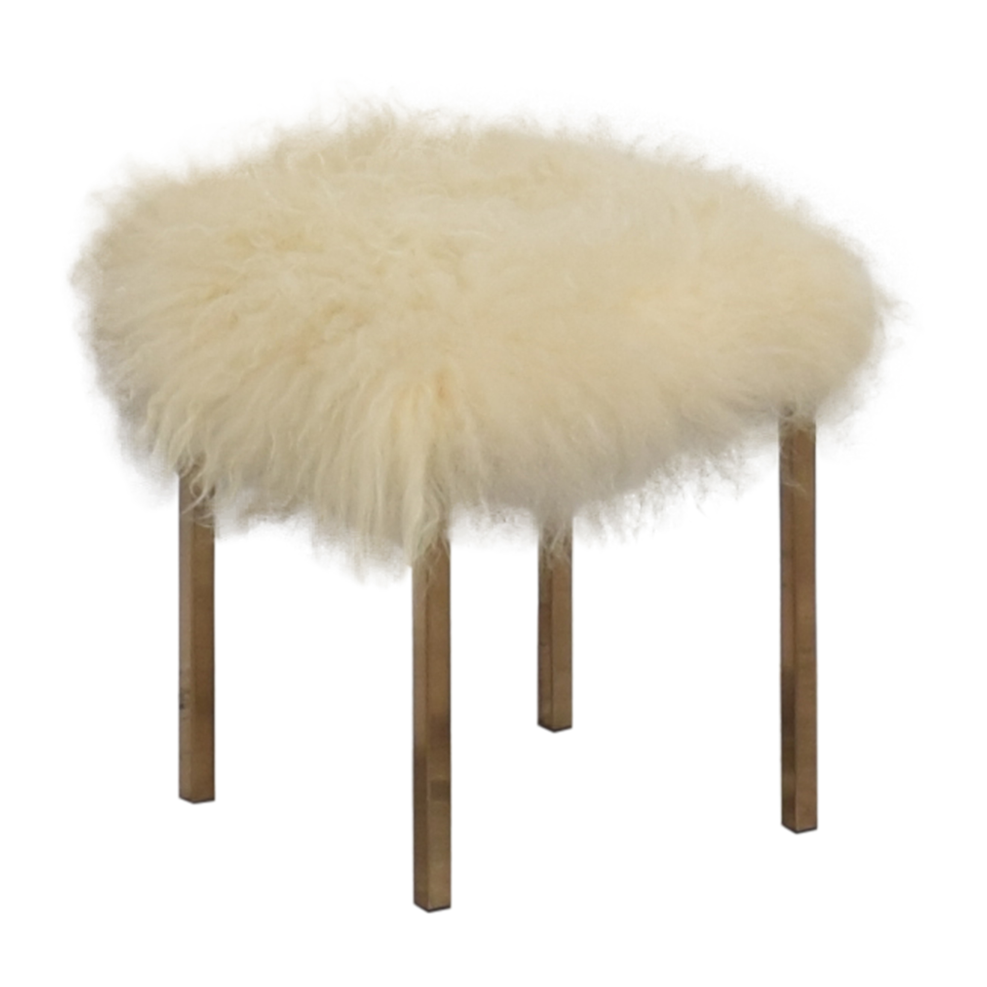 shop CB2 Sheepskin Stool CB2