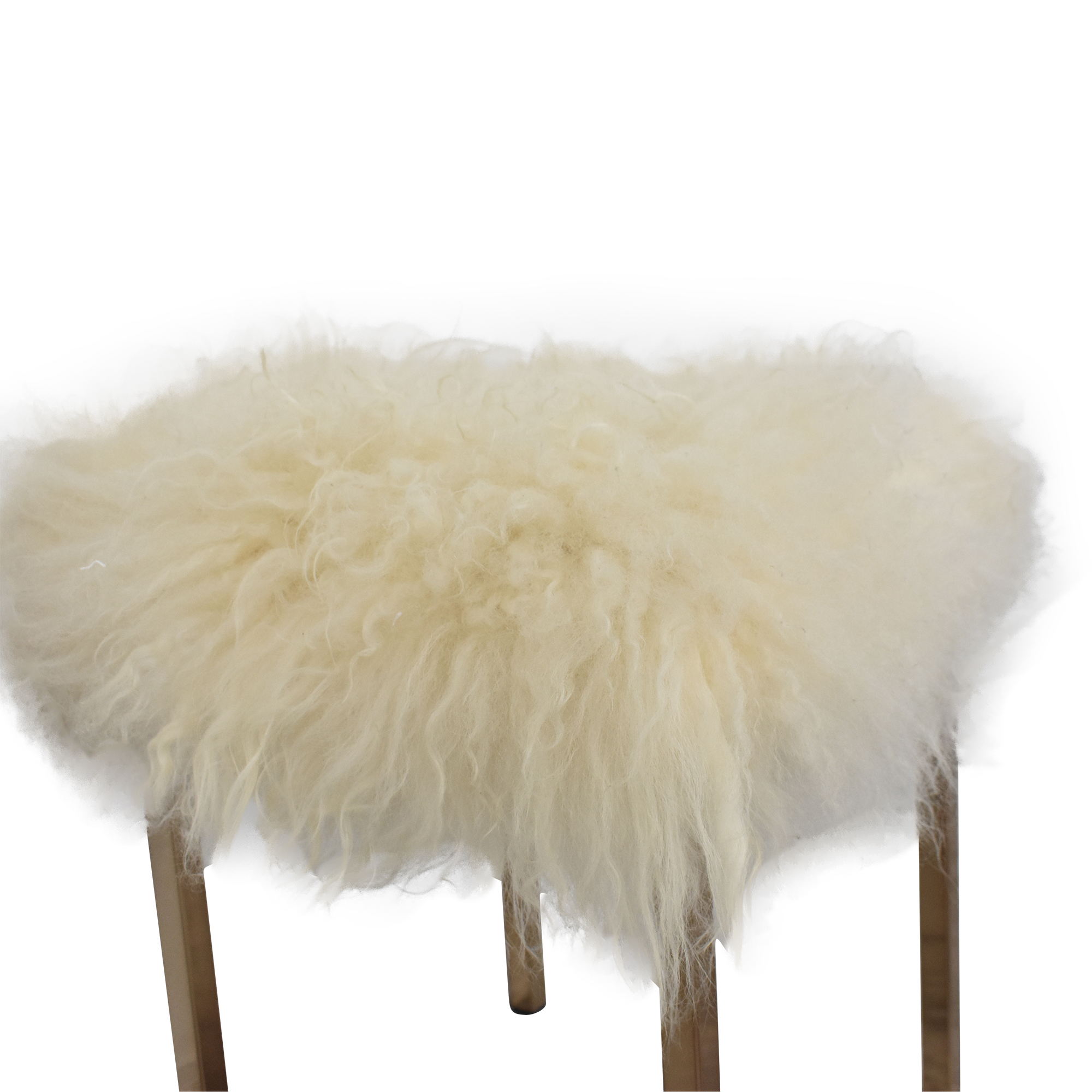 CB2 CB2 Sheepskin Stool second hand