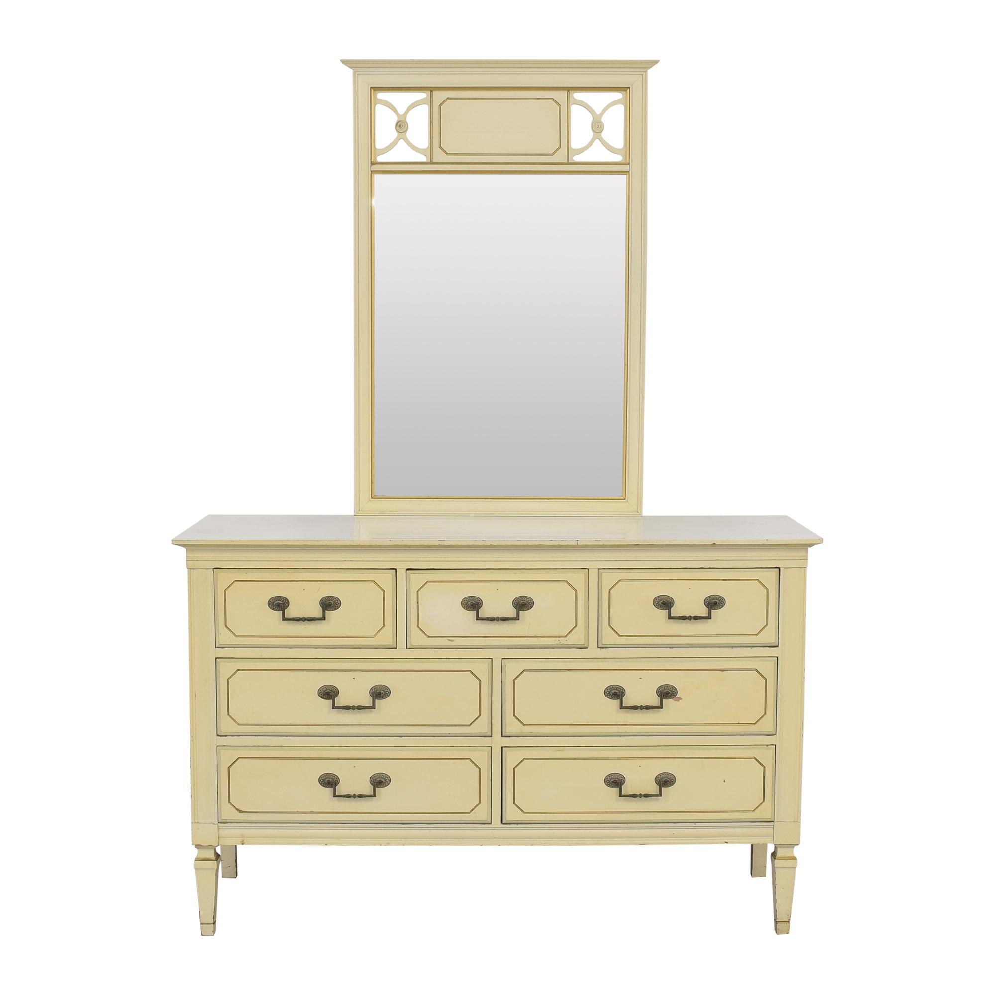 Seven Drawer Dresser with Mirror sale