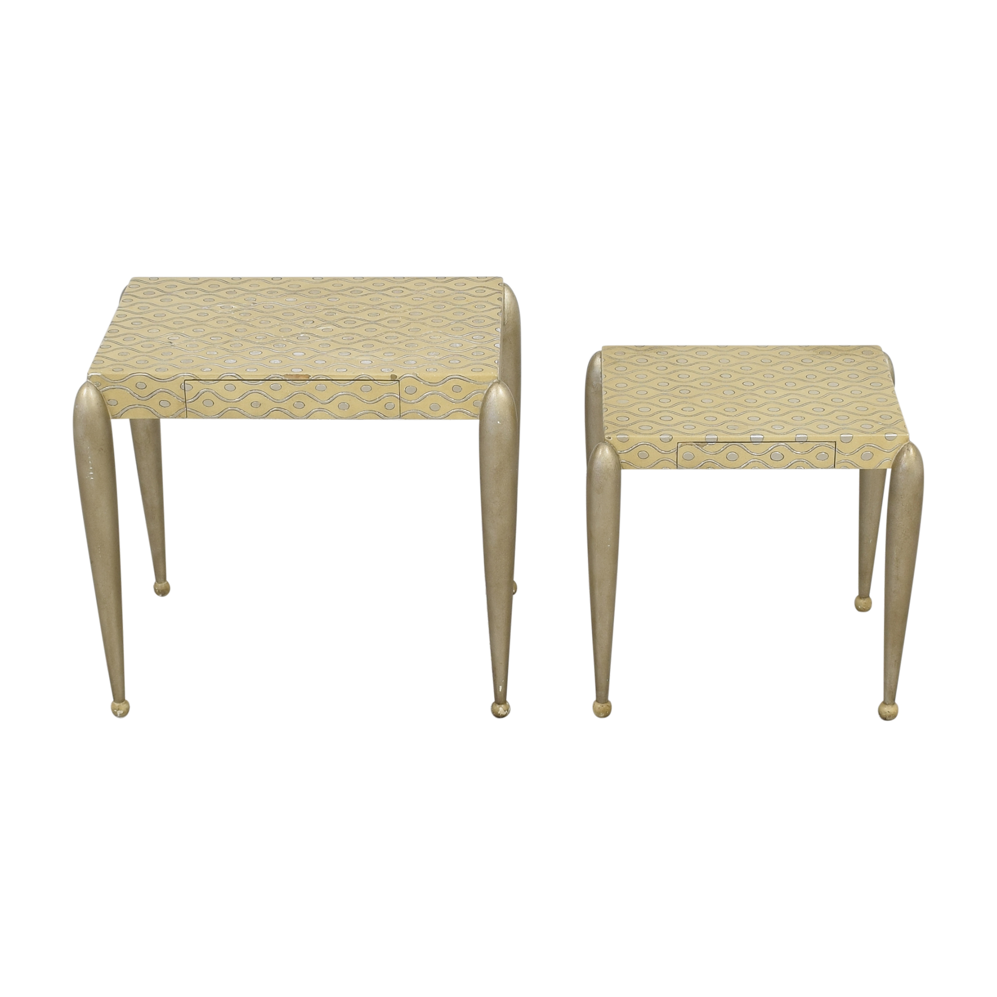 ABC Carpet & Home African Inspired Nesting Tables with Drawers nyc