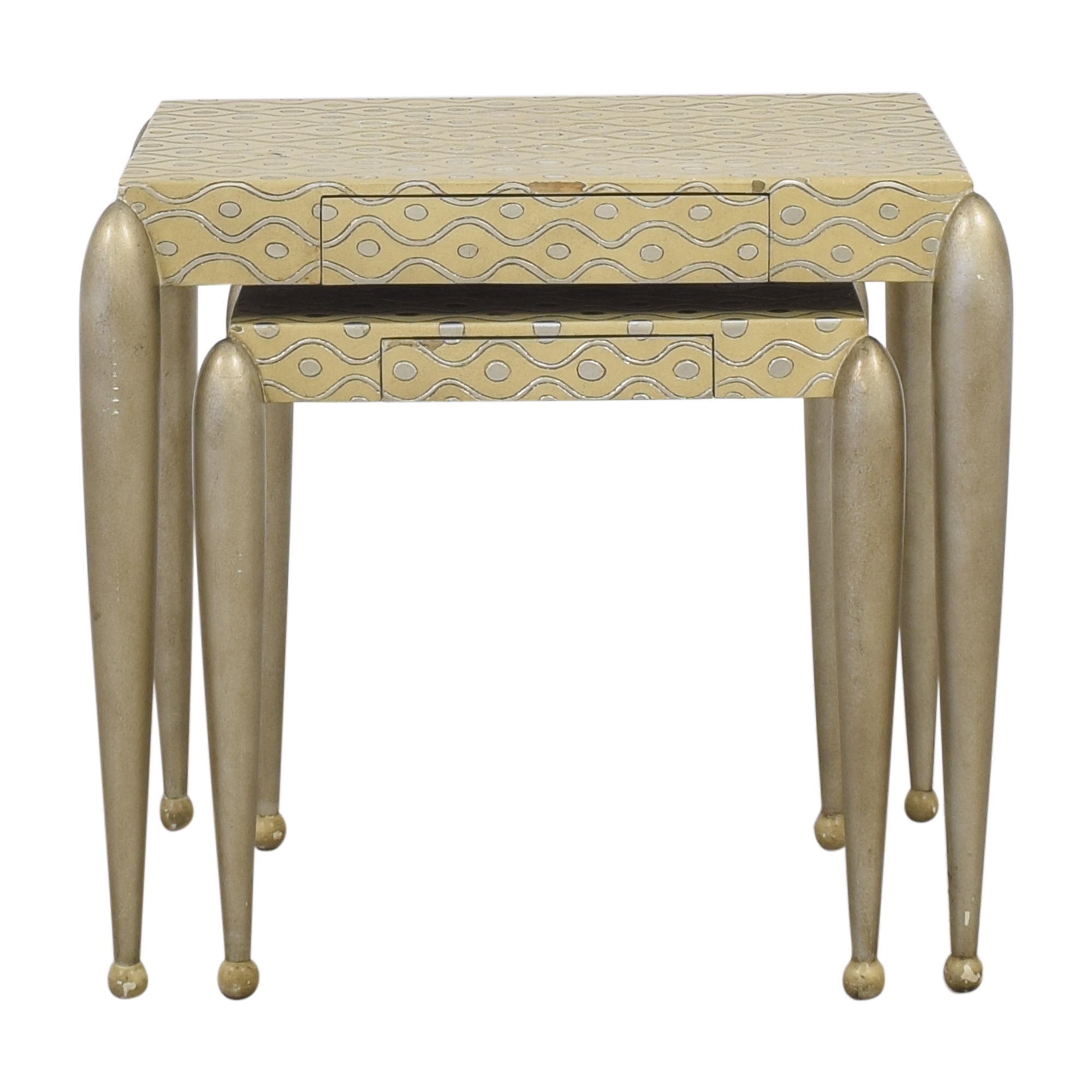ABC Carpet & Home African Inspired Nesting Tables with Drawers discount