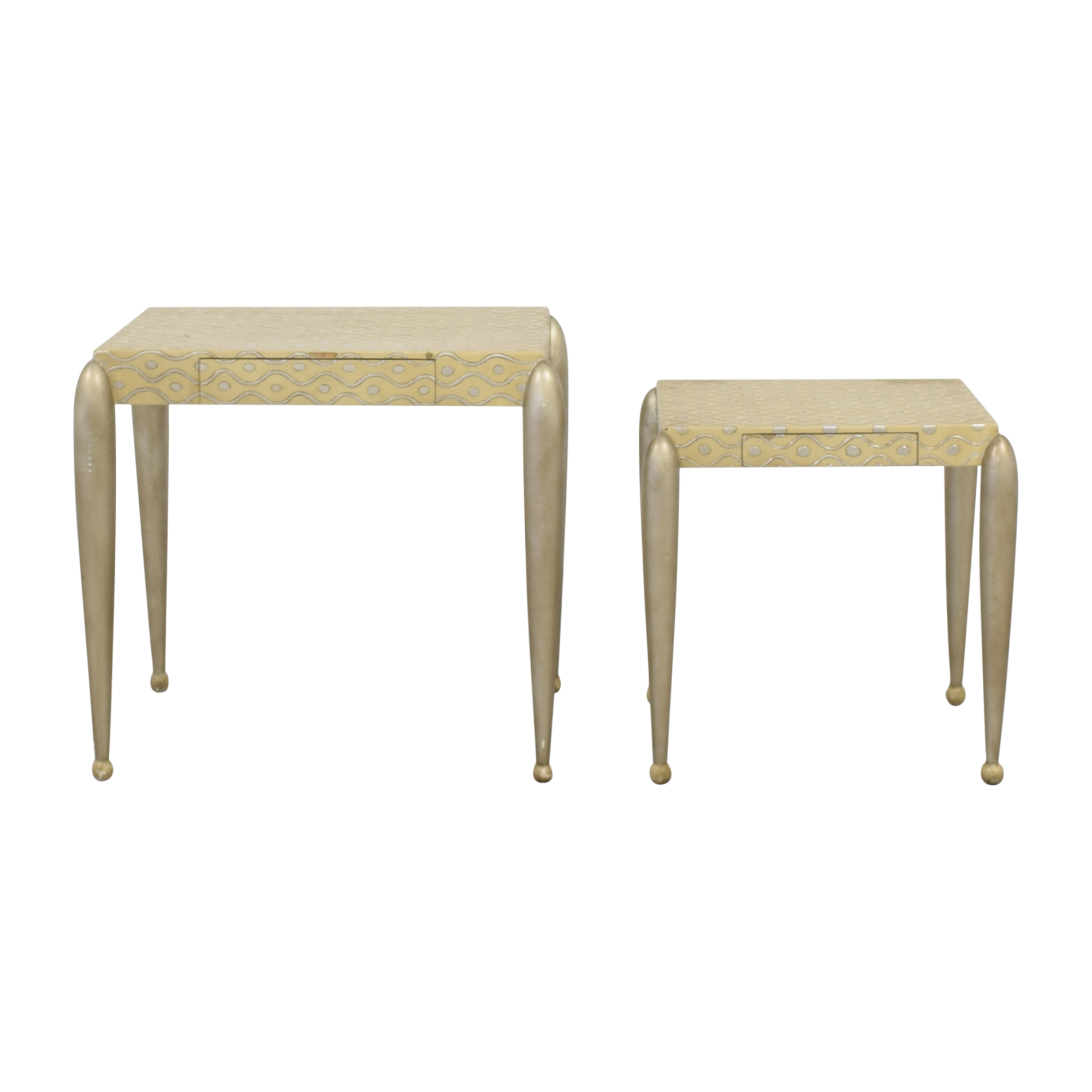 shop African Inspired Nesting Tables with Drawers ABC Carpet & Home Accent Tables