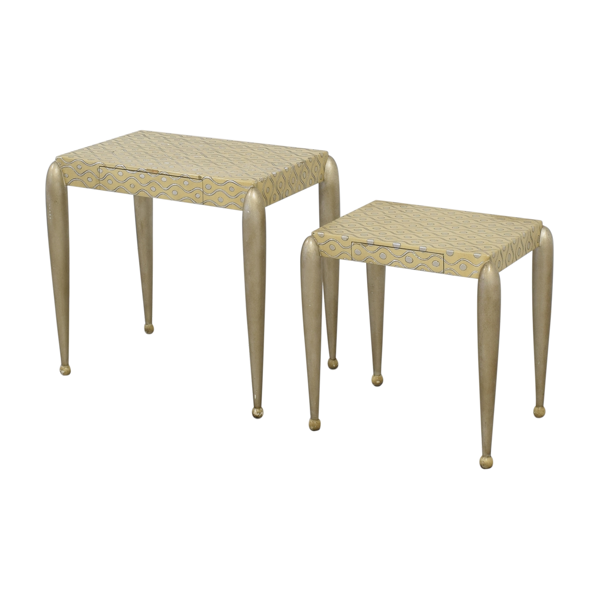 shop African Inspired Nesting Tables with Drawers ABC Carpet & Home