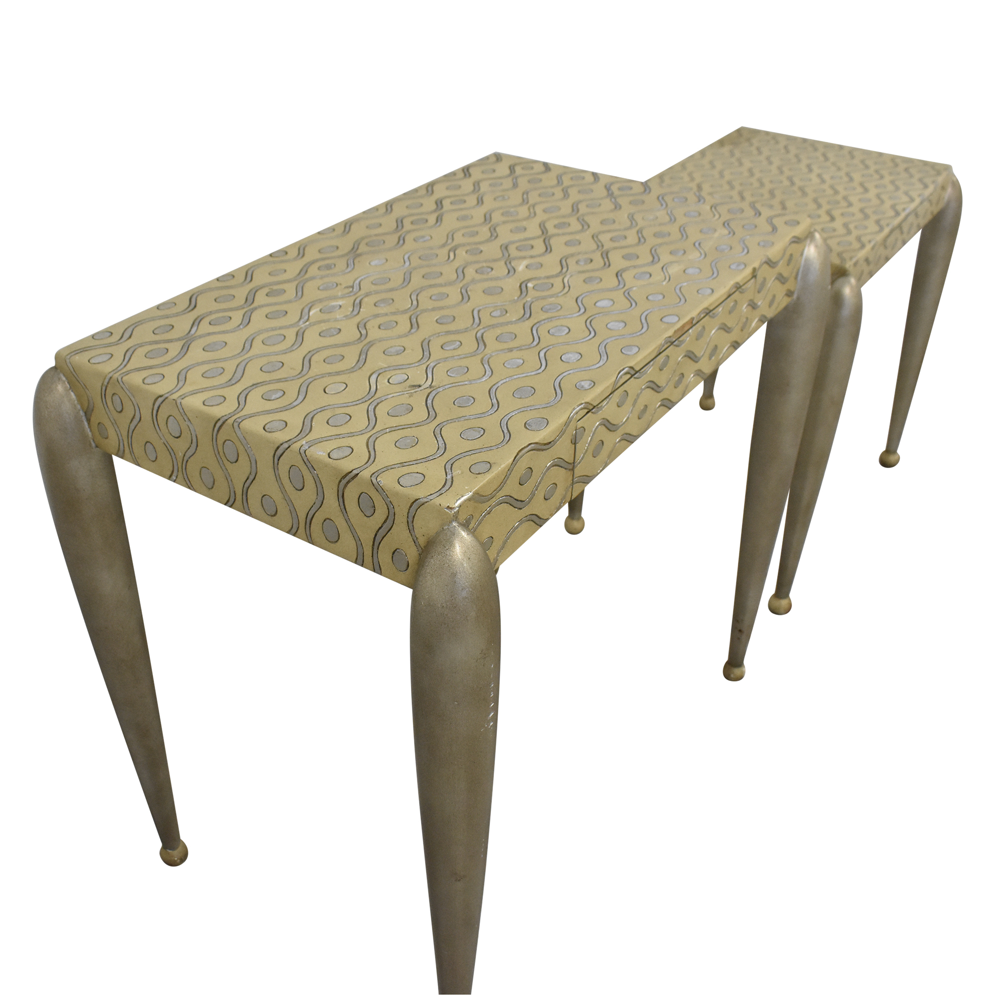 ABC Carpet & Home African Inspired Nesting Tables with Drawers on sale
