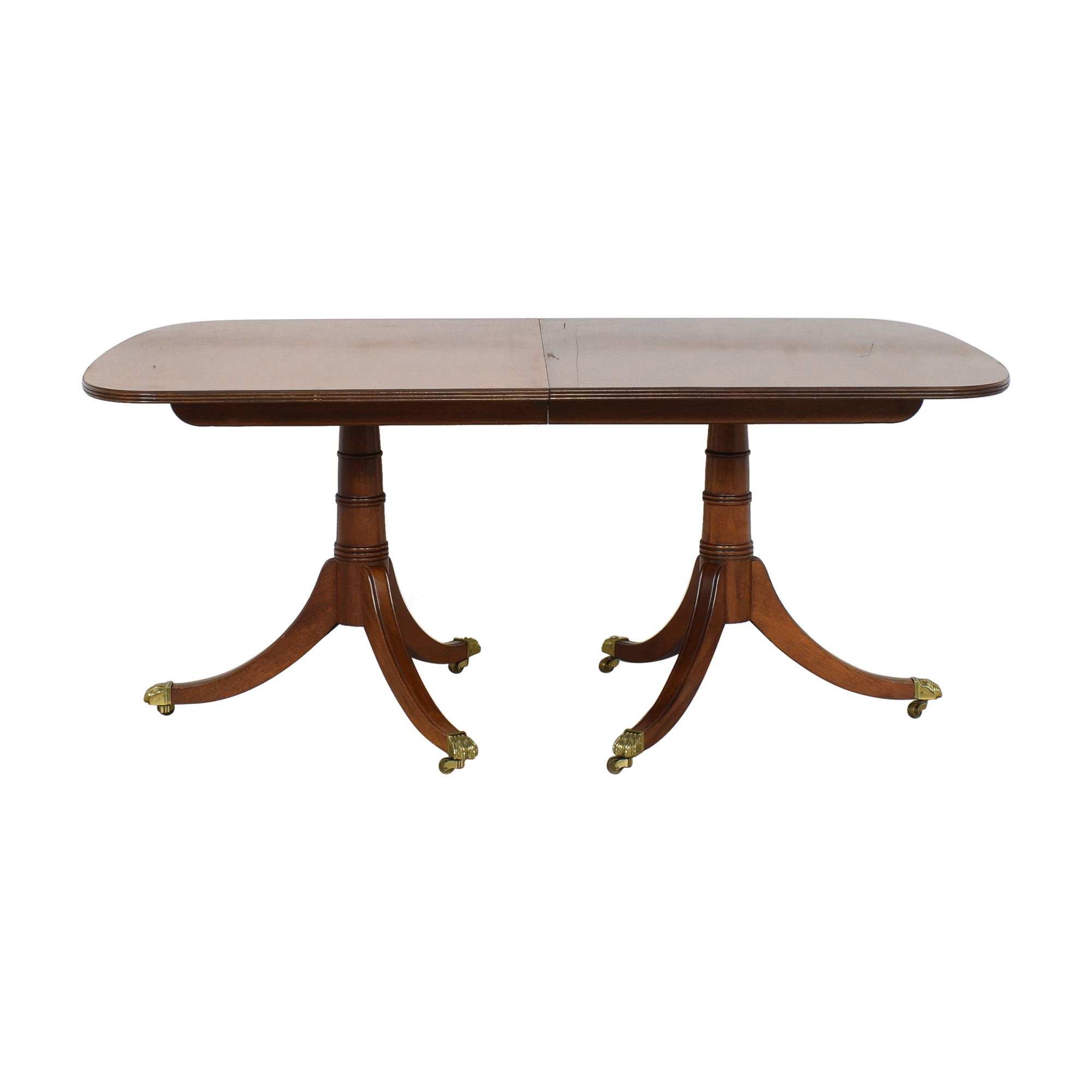buy Stickley Furniture Stickley Extendable Double Pedestal Dining Table online