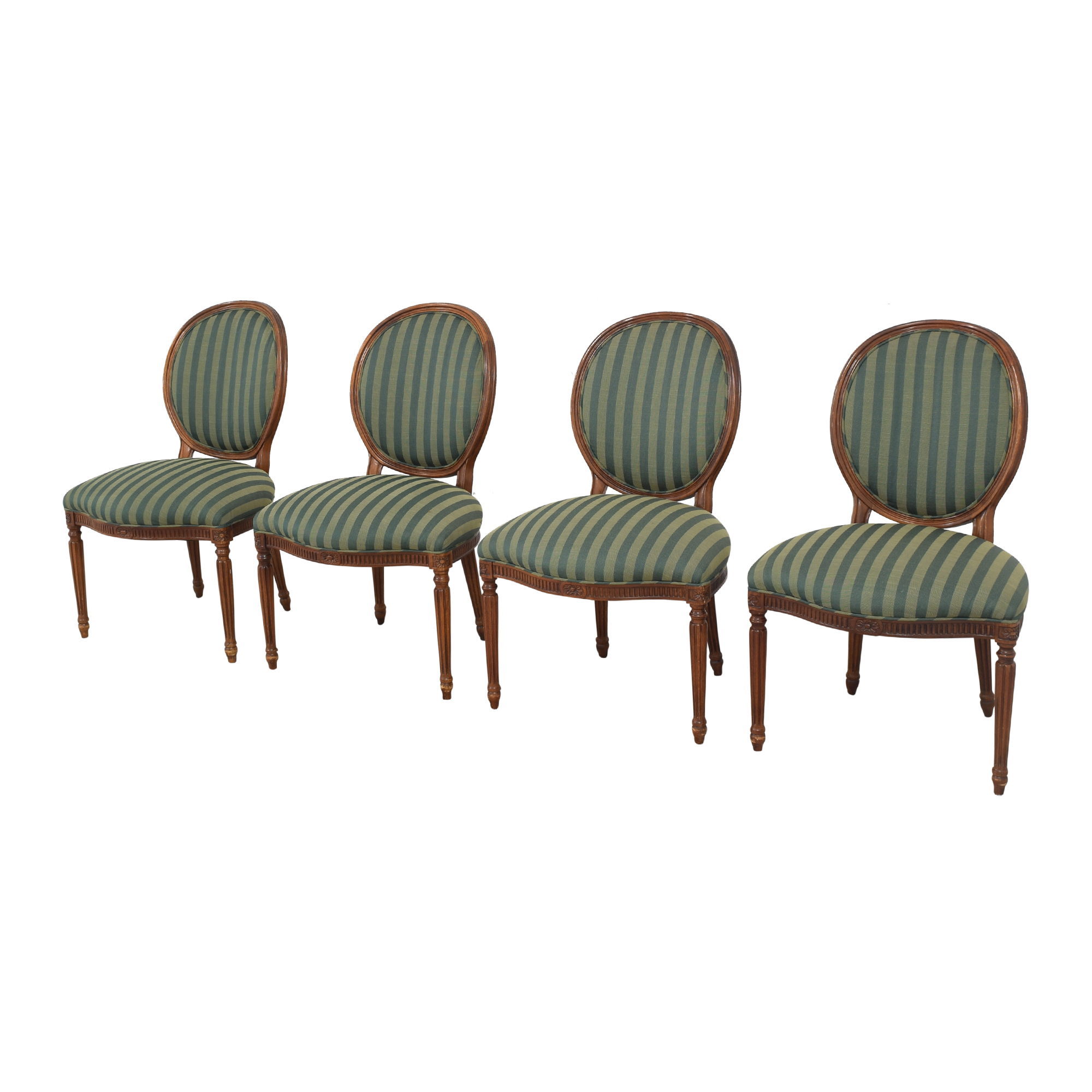 Hickory Chair Hickory Chair Medallion Back Dining Chairs second hand