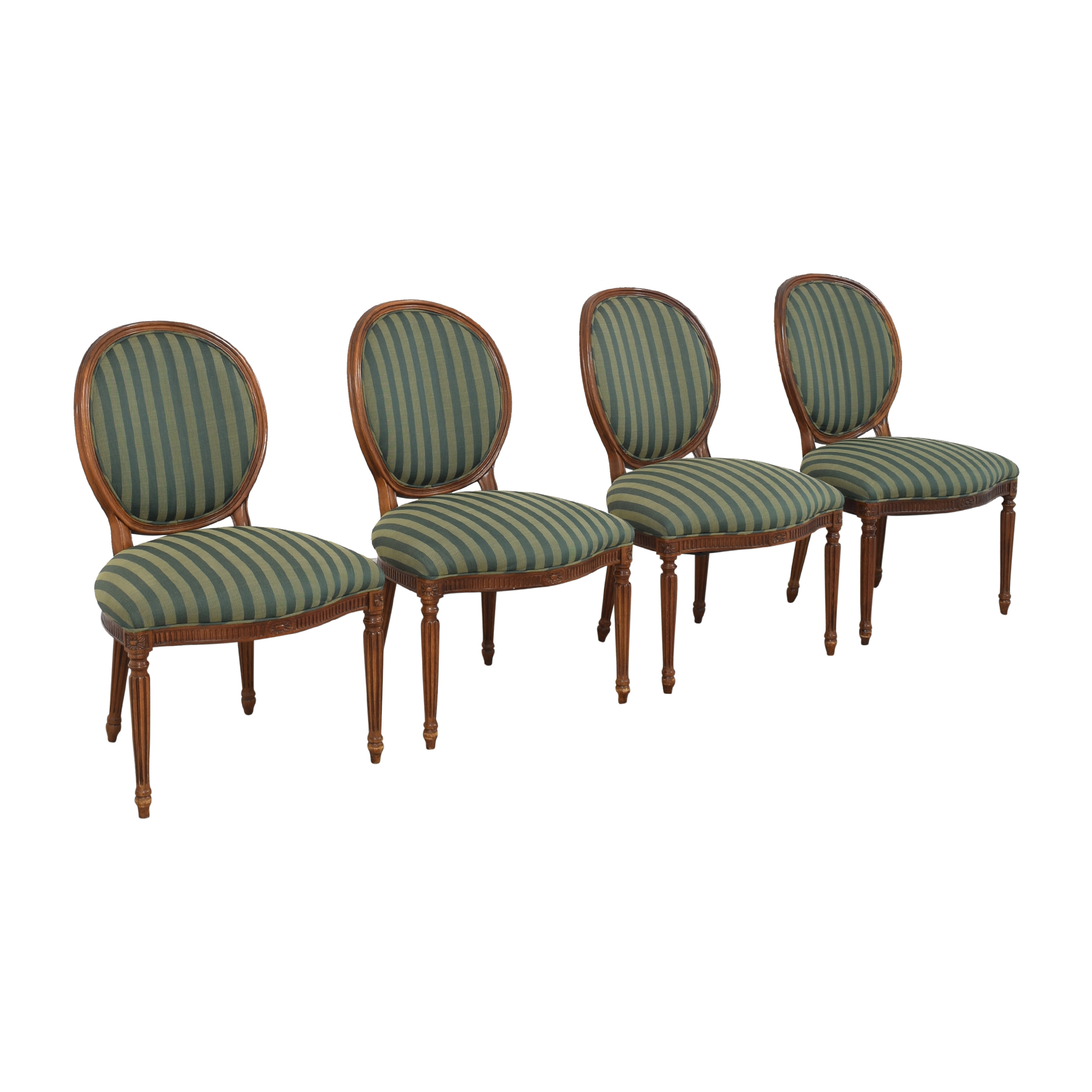 Hickory Chair Hickory Chair Medallion Back Dining Chairs green & brown