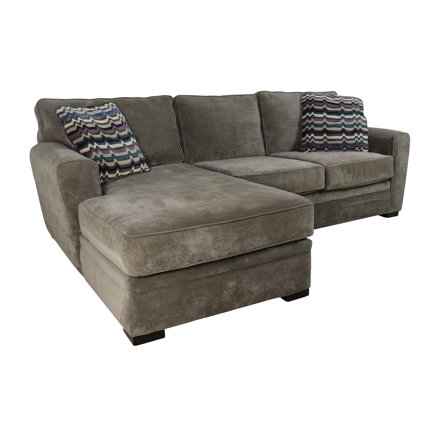 Raymour & Flanigan Raymour & Flanigan Artemis II Microfiber Sectional Sofa on sale