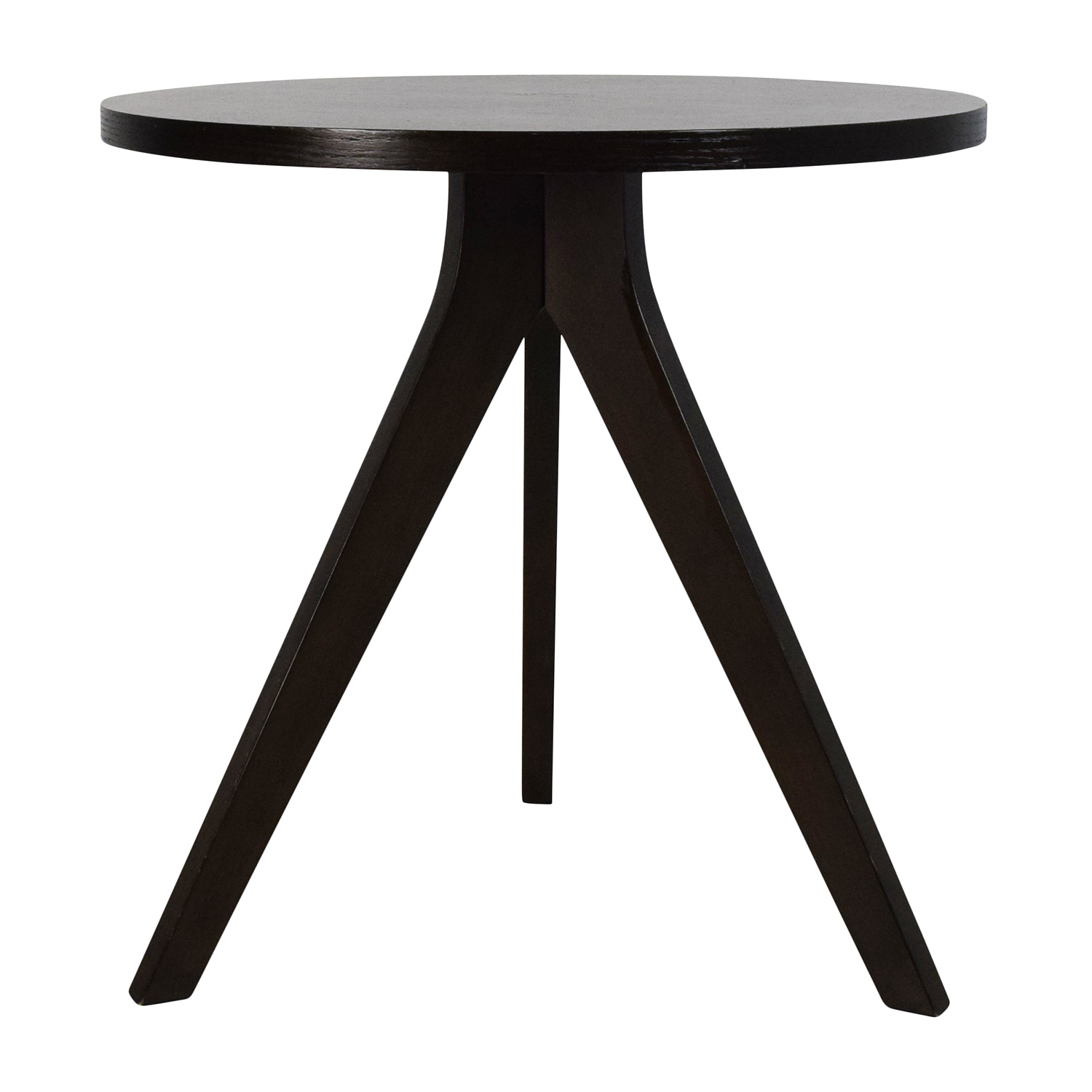 West Elm West Elm Tripod Side Table Dark Brown
