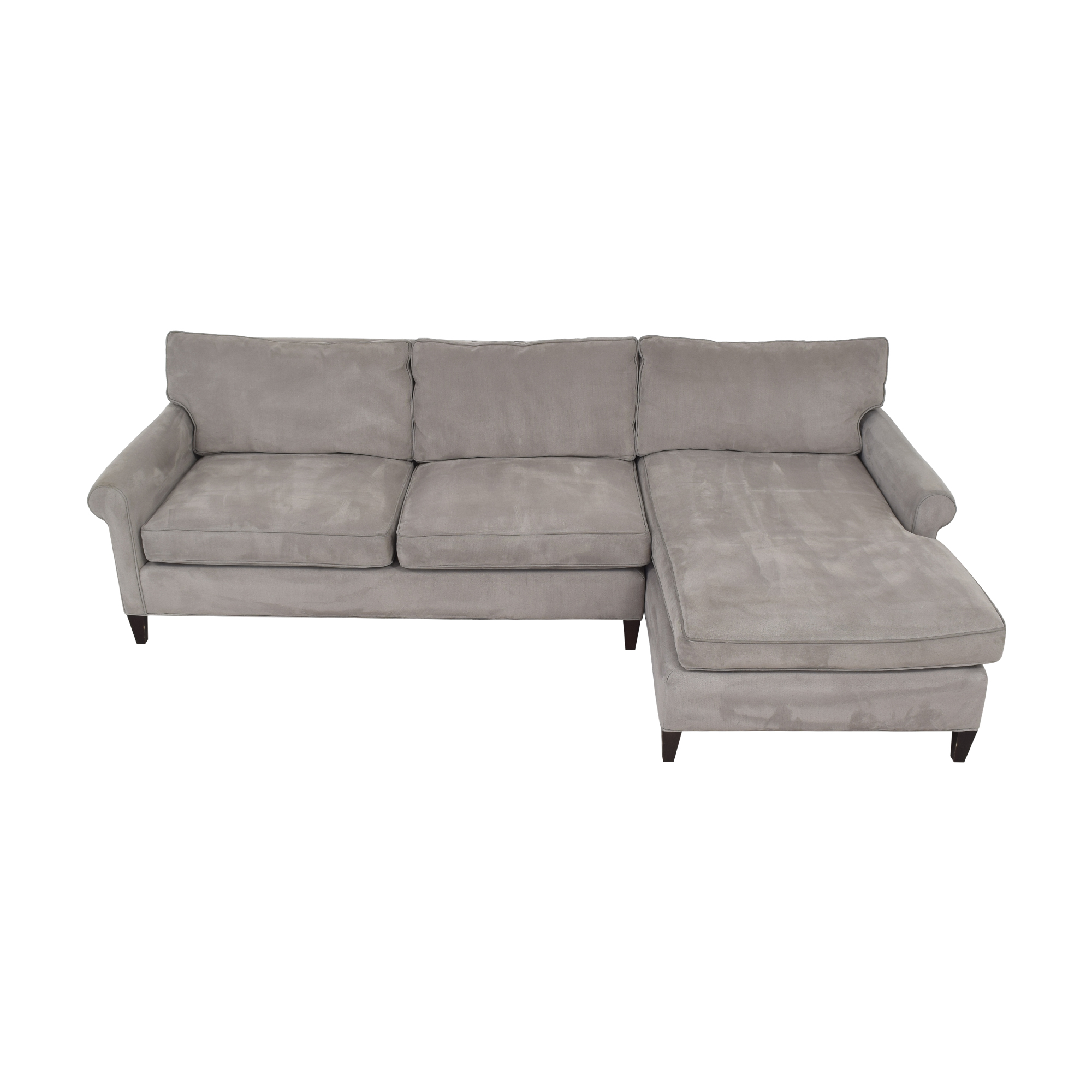 Crate & Barrel Crate & Barrel Montclair Chaise Sectional Sofa pa