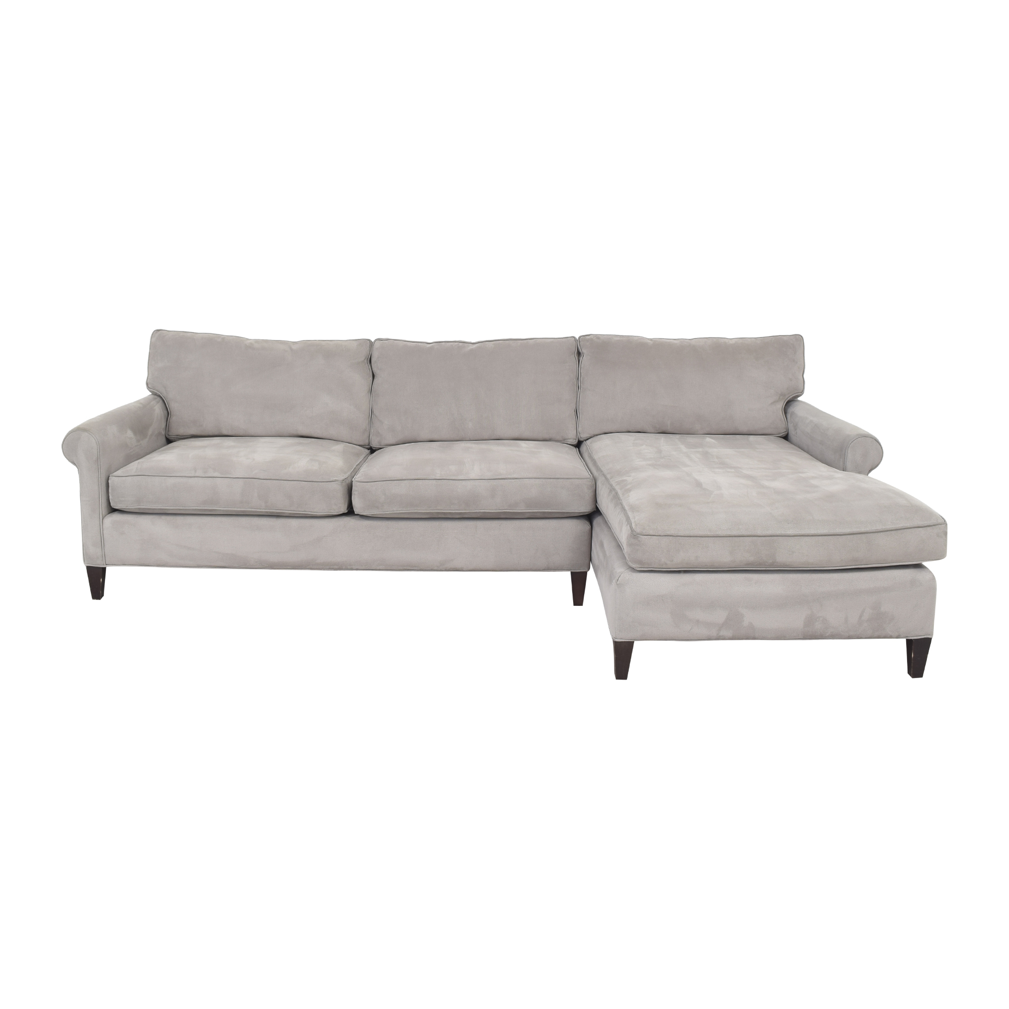 Crate & Barrel Crate & Barrel Montclair Chaise Sectional Sofa dimensions
