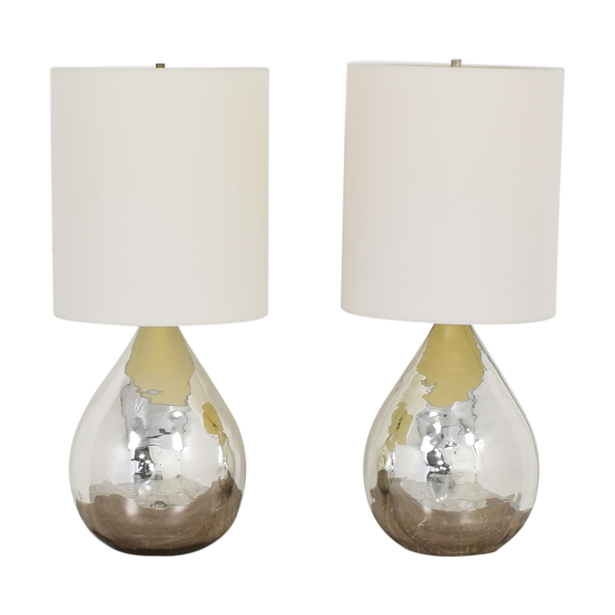 Pottery Barn Pottery Barn Mercury Glass Style Table Lamps discount