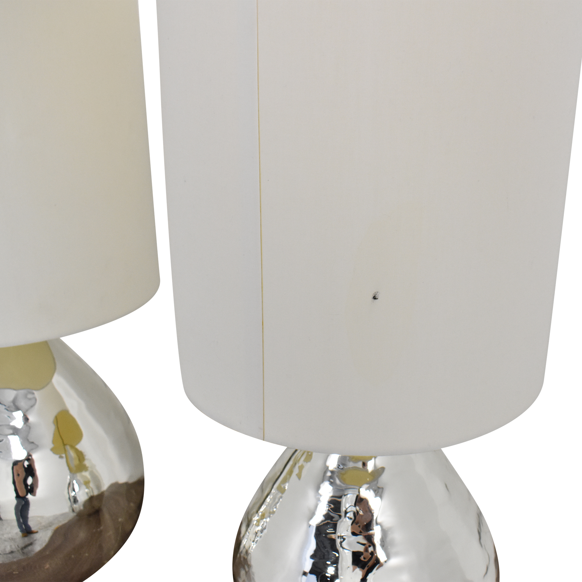 Pottery Barn Pottery Barn Mercury Glass Style Table Lamps silver & white