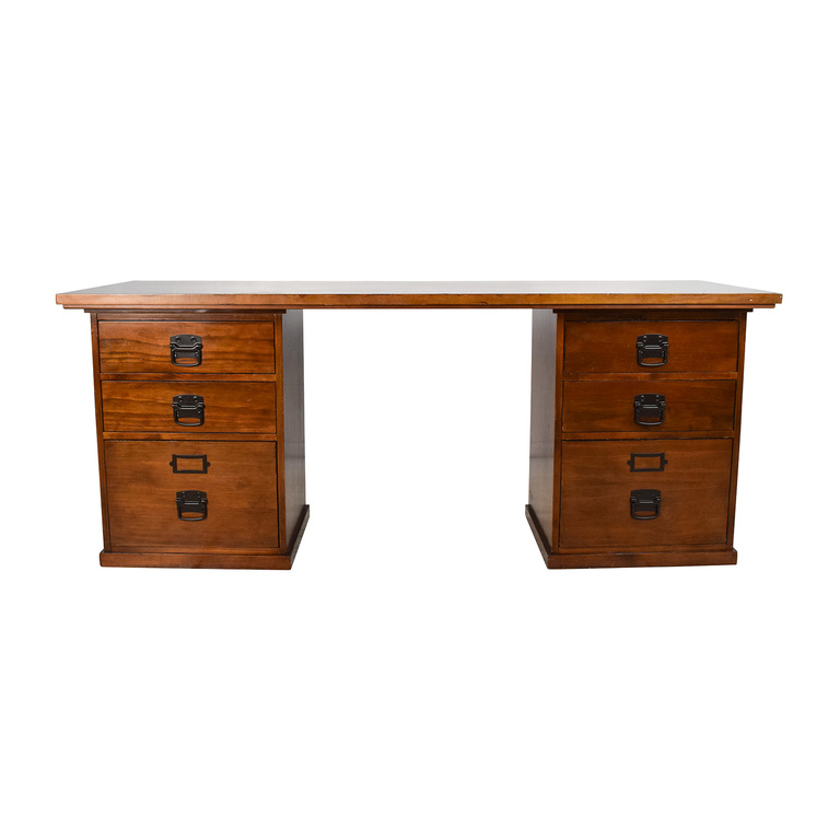 Pottery Barn Pottery Barn Bedford Rectangular 6-Drawer Desk nj