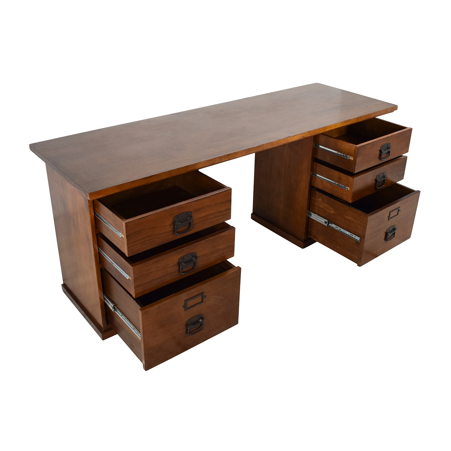 75 off pottery barn pottery barn bedford rectangular 6 drawer desk tables - Ideen ordnungssysteme hause pottery barn ...