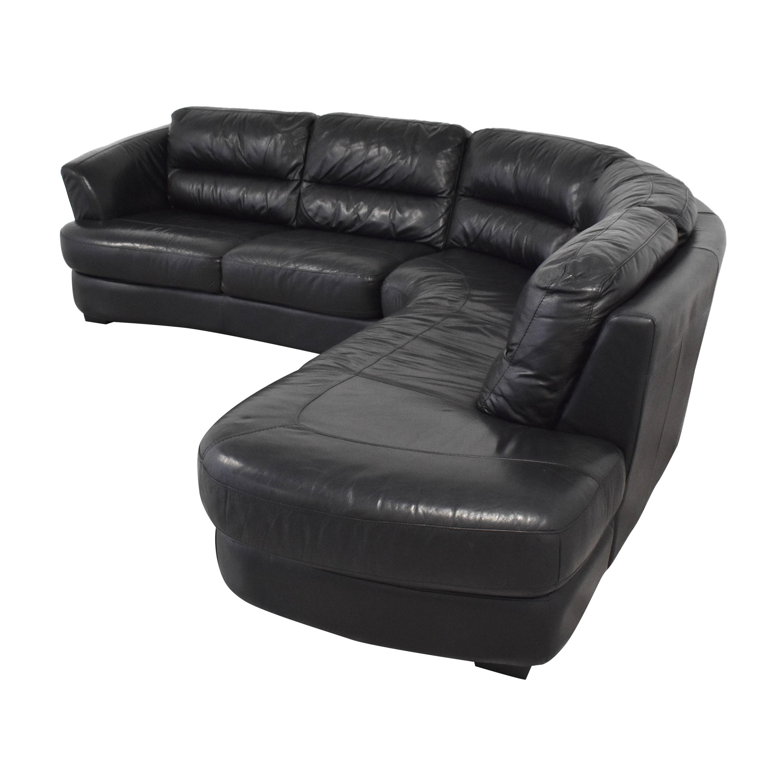Custom Curved Sectional Sofa pa