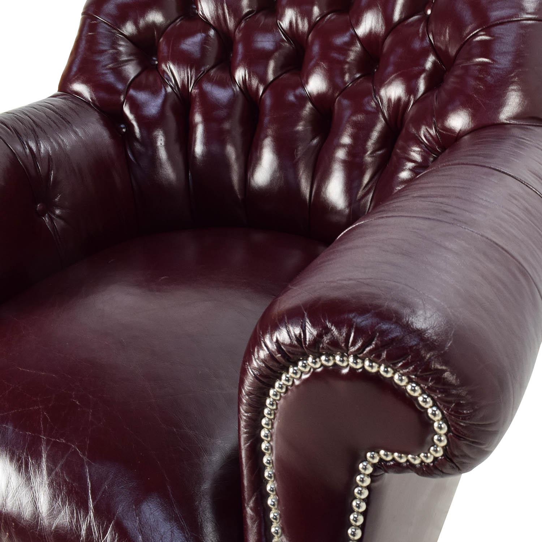 90 Off Baker Furniture Baker Tufted Leather Lounge