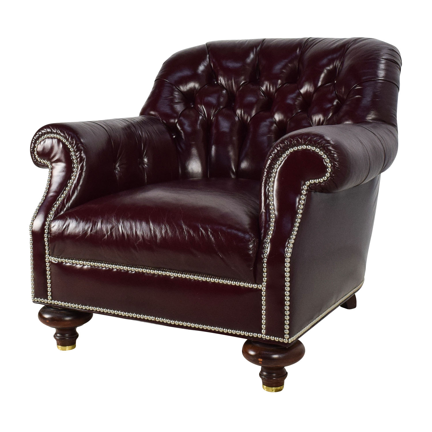 90 off baker furniture baker tufted leather lounge