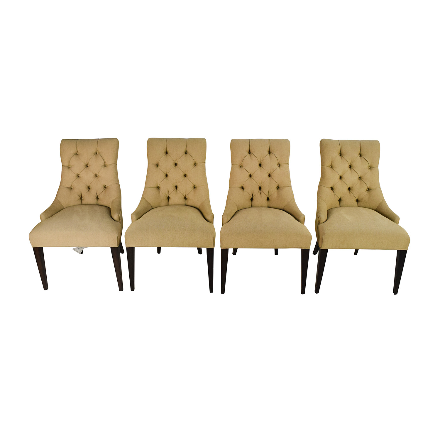 Restoration Hardware Restoration Hardware Martine Tufted Fabric Armchair Set Dining Chairs