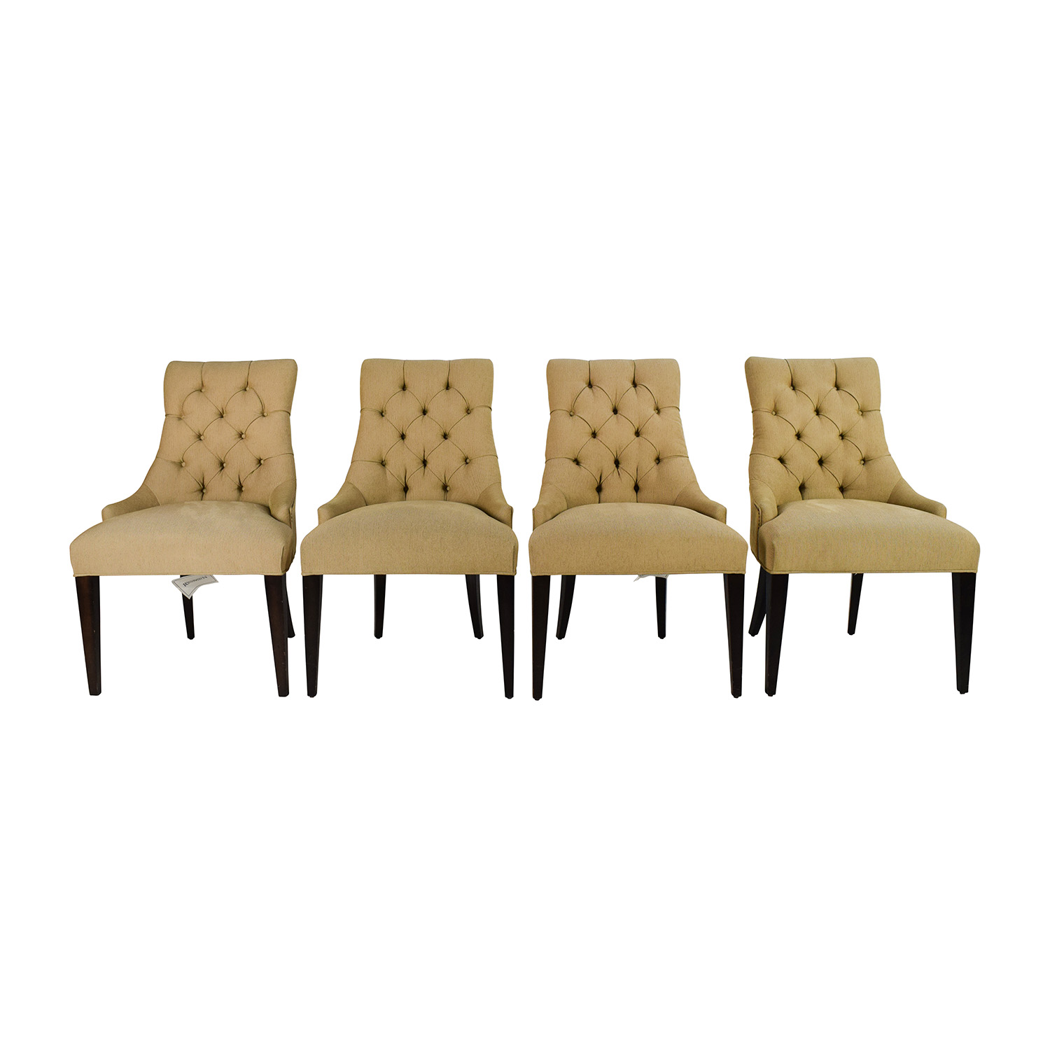 Restoration Hardware Restoration Hardware Martine Tufted Fabric Armchair Set on sale