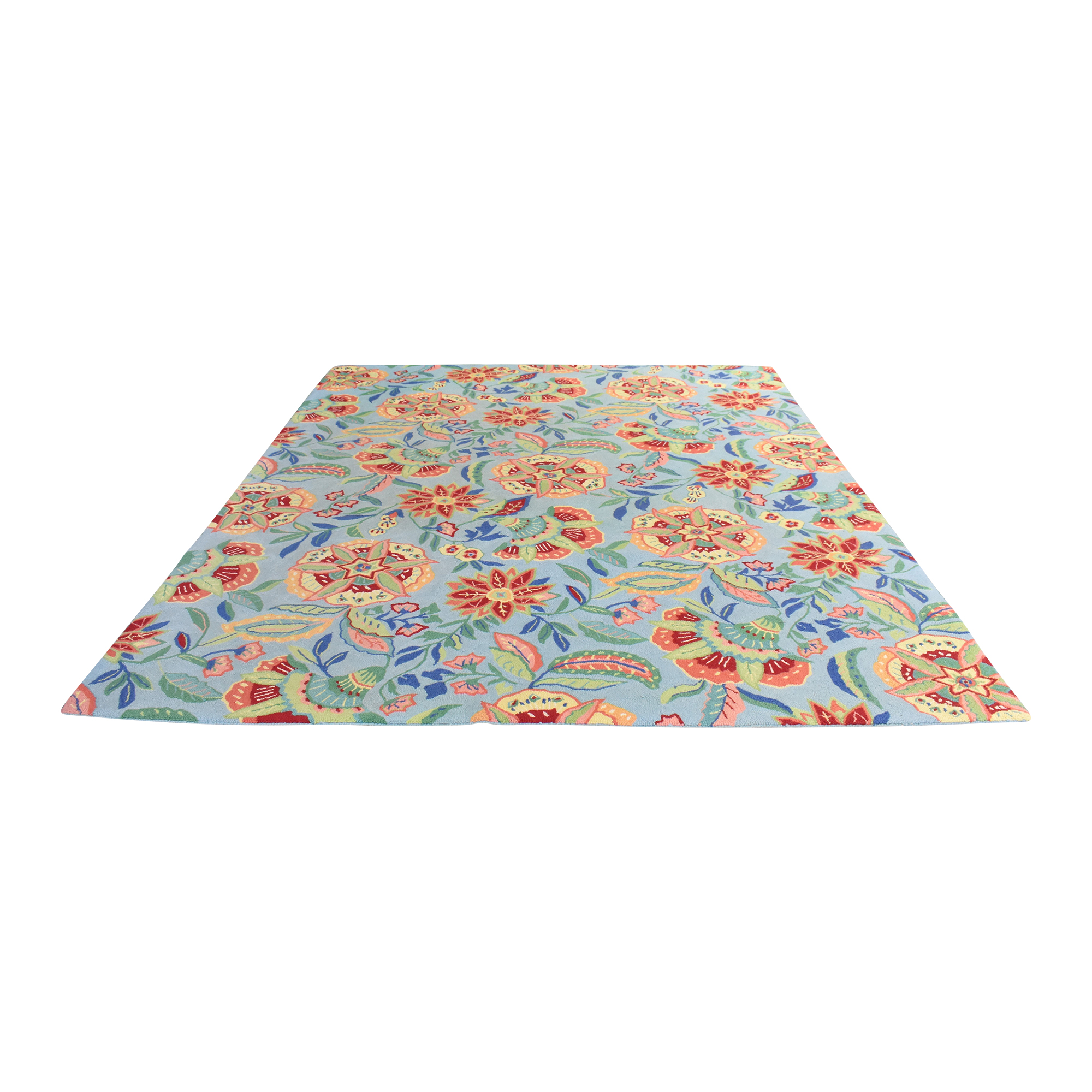 Company C Company C Floral Pattern Area Rug second hand