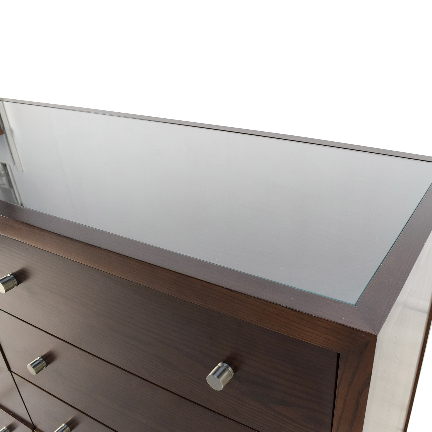 89 Off Custom Custom Solid Wood Glass Top Dresser Storage
