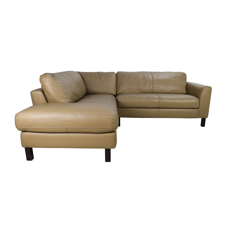 Bon 65% OFF   Bloomingdaleu0027s Bloomingdales Leather Sectional / Sofas