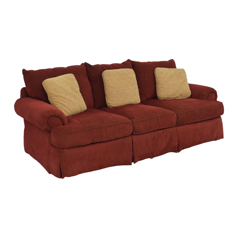Thomasville Thomasville Three Cushion Sofa red