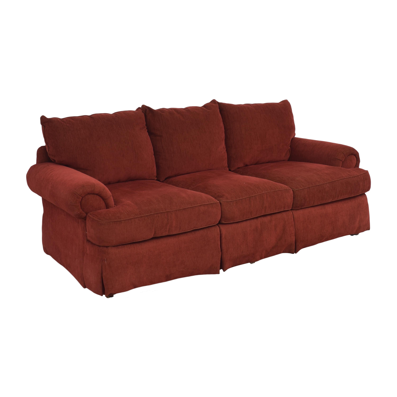 shop Thomasville Three Cushion Sofa Thomasville