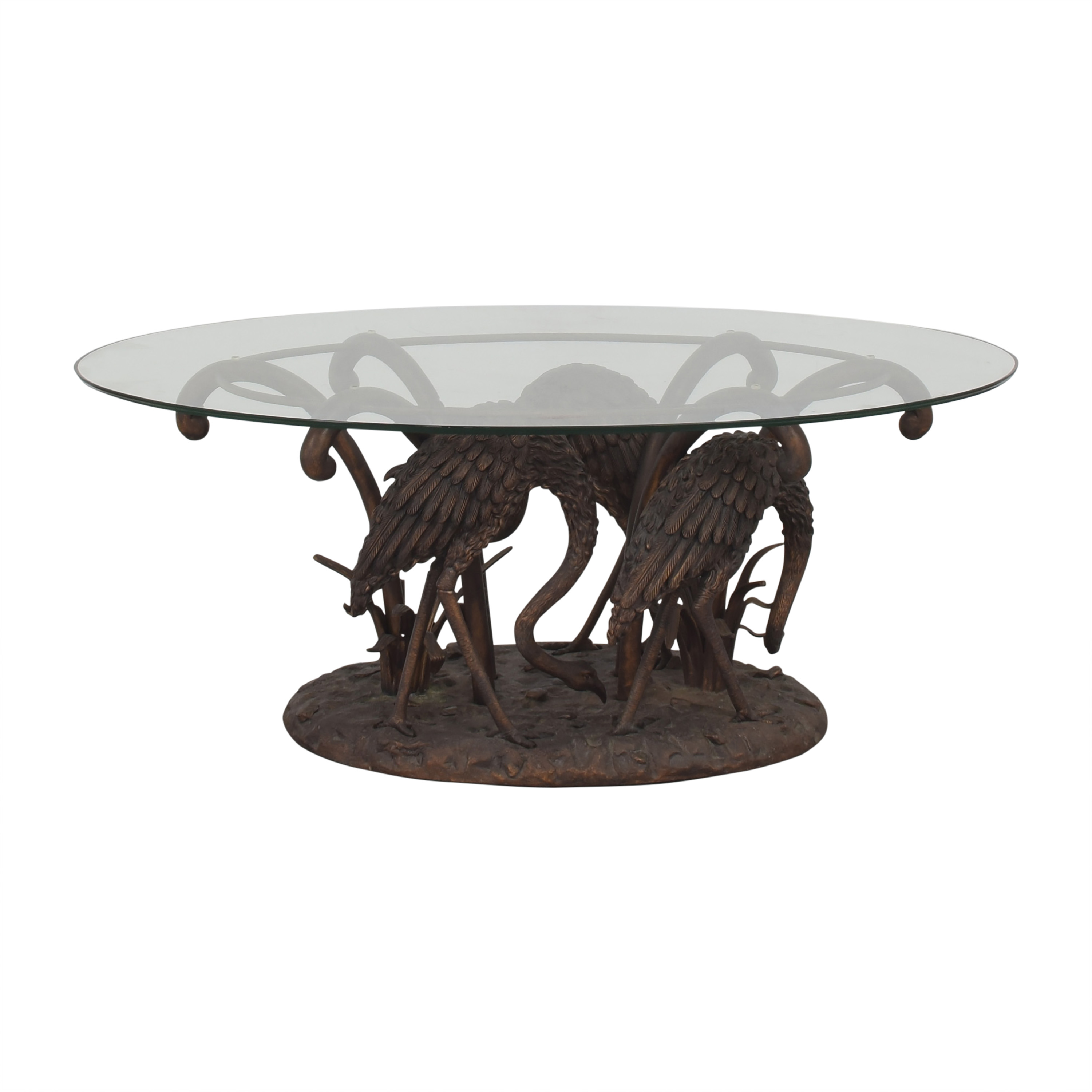 shop  Sculpture Base Glass Coffee Table online