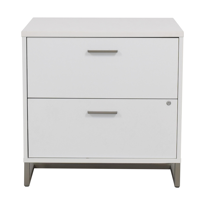 shop Bush Kathy Ireland Method White Lateral File Cabinet Bush Furniture Storage